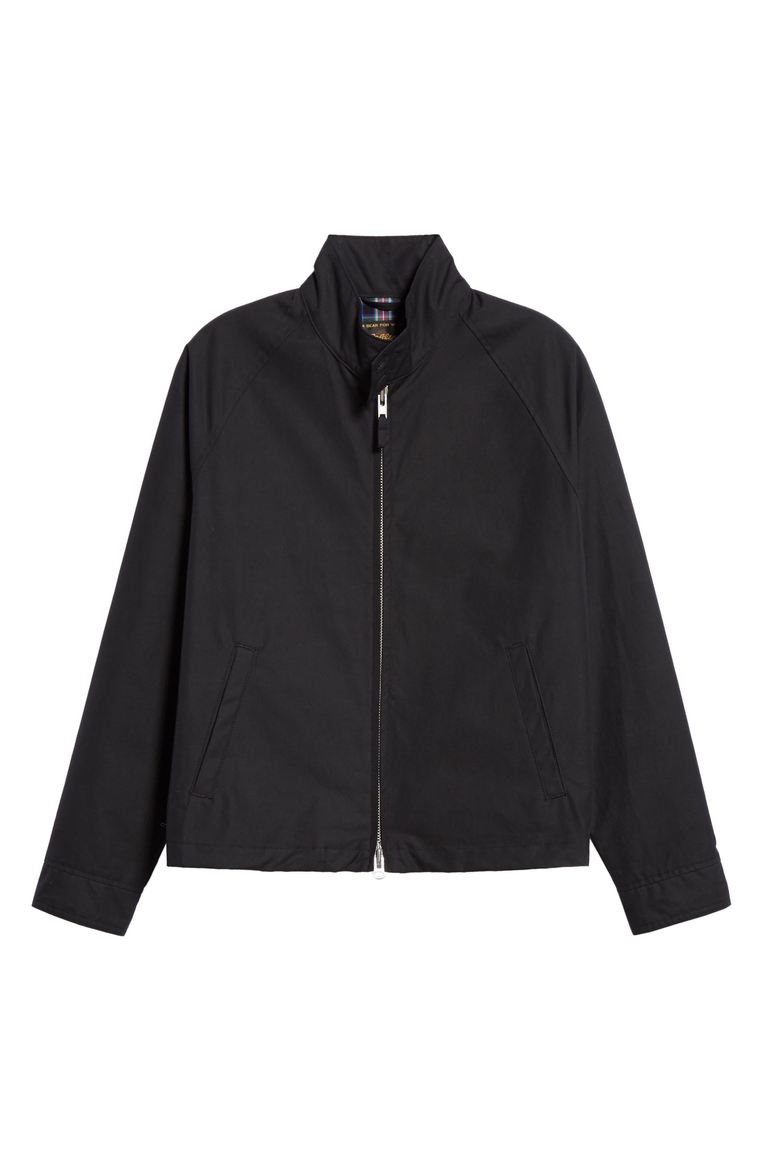 Harrington Waxed Cotton Jacket, Main, color, BLACK