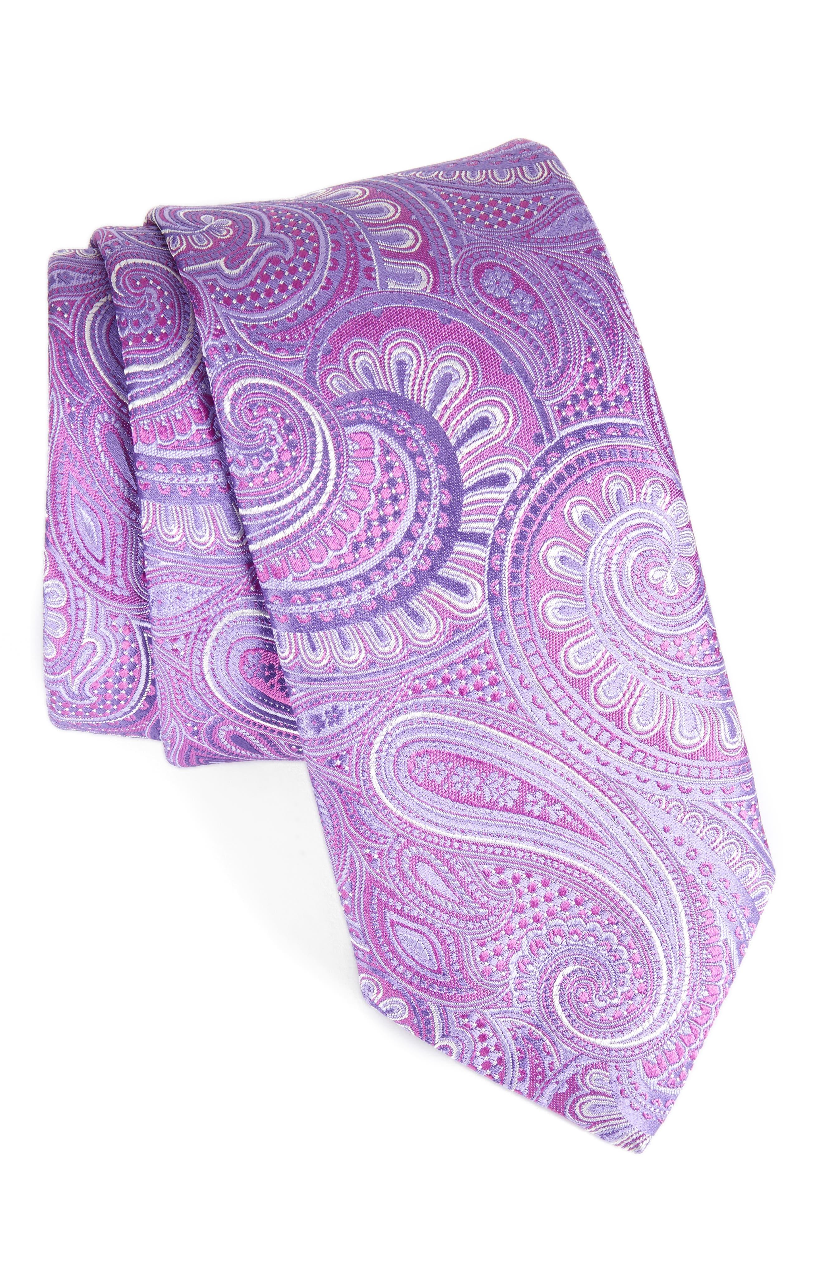 John W. Nordstrom Paisley Silk Tie,                             Main thumbnail 4, color,