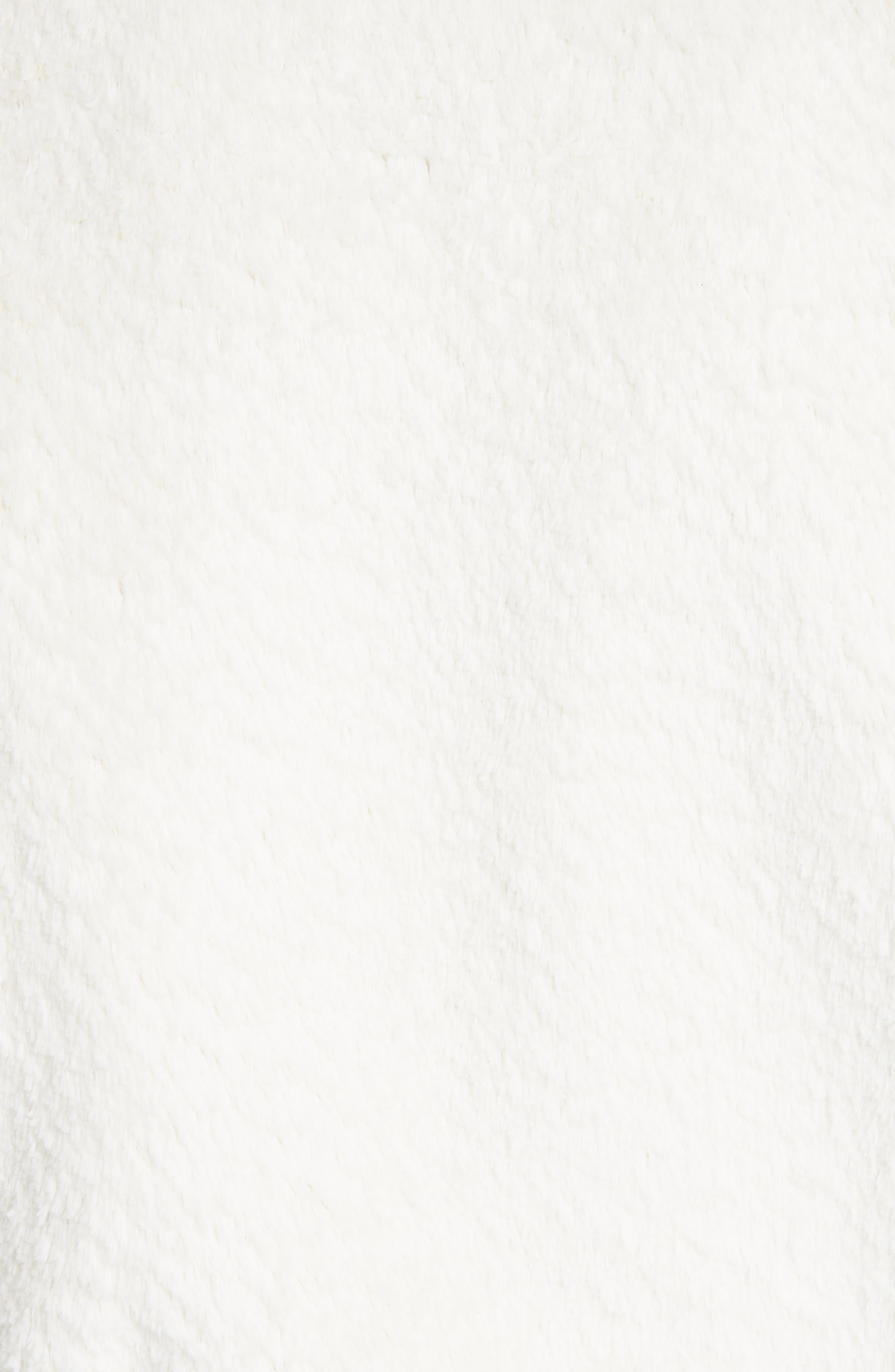 SAINT LAURENT,                             Teddy Faux Fur Bomber Jacket,                             Alternate thumbnail 6, color,                             WHITE