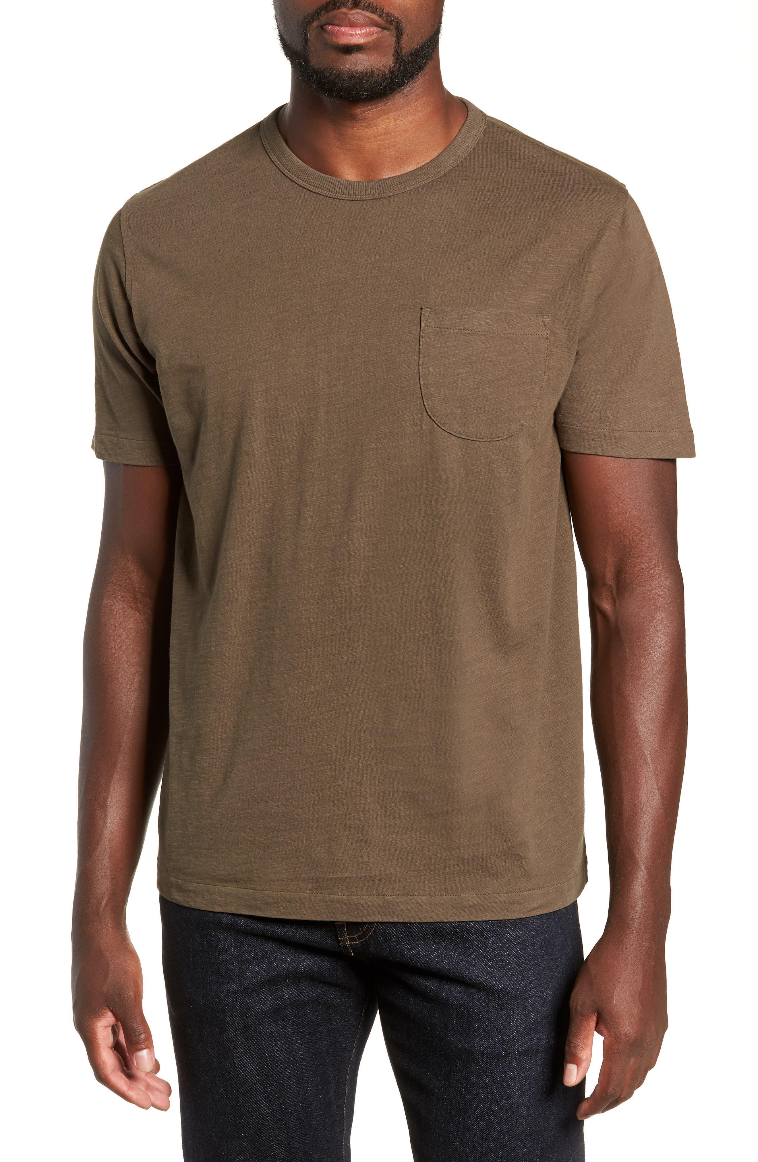 Slubbed Pocket T-Shirt,                         Main,                         color, GREEN
