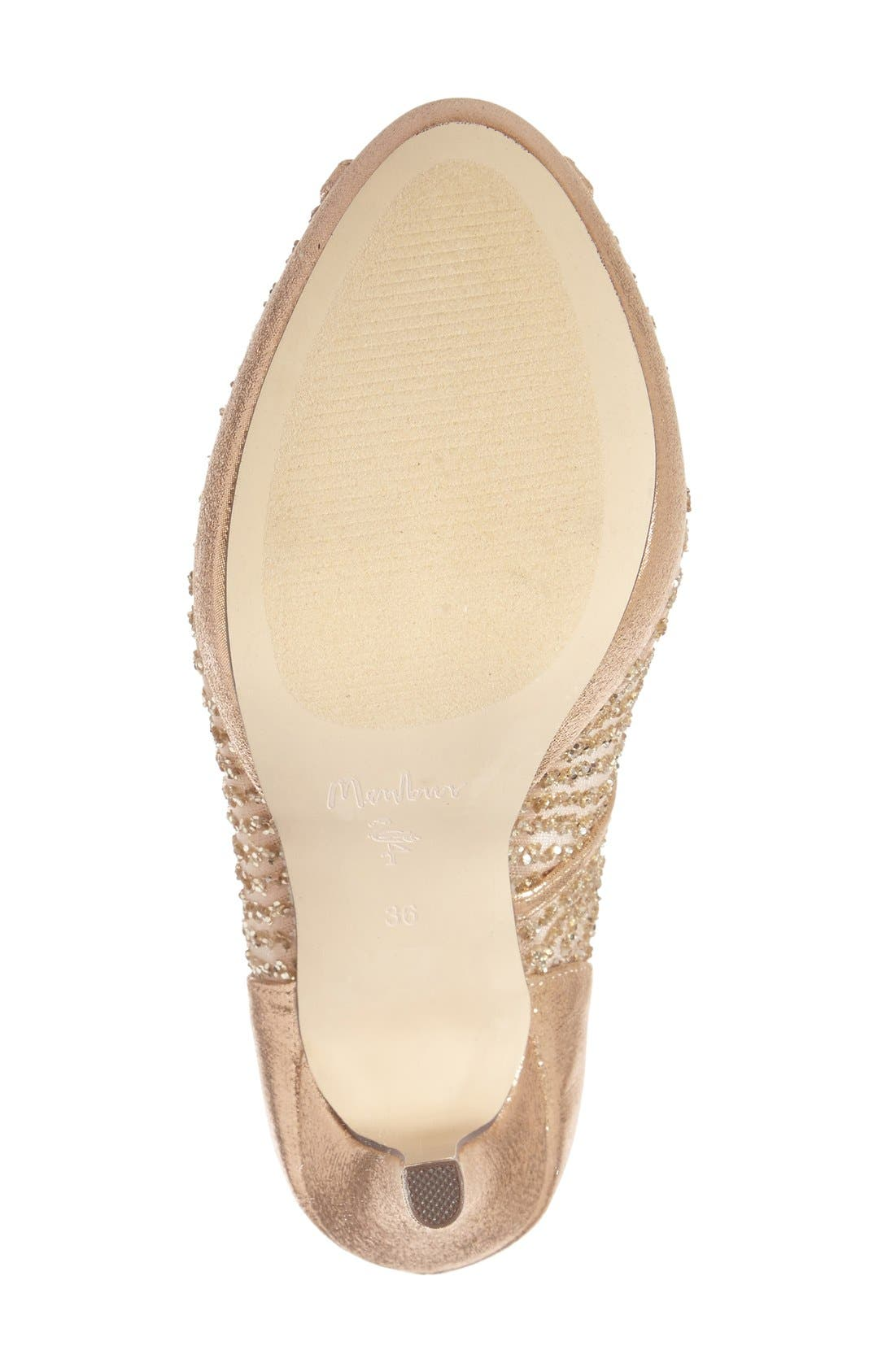 'Tambre' Glitter Platform Sandal,                             Alternate thumbnail 4, color,                             273