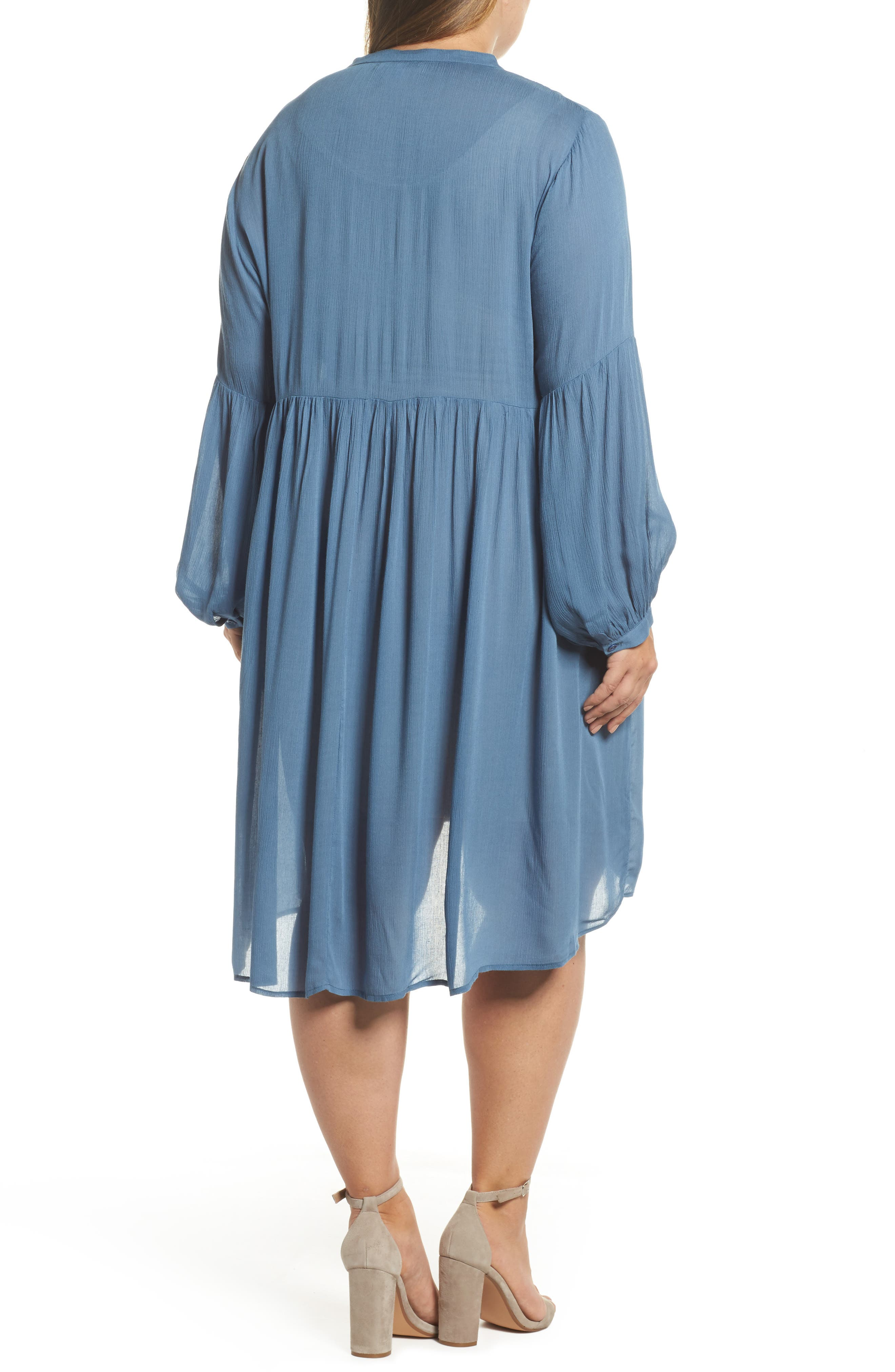 Button Front Shirtdress,                             Alternate thumbnail 2, color,                             455