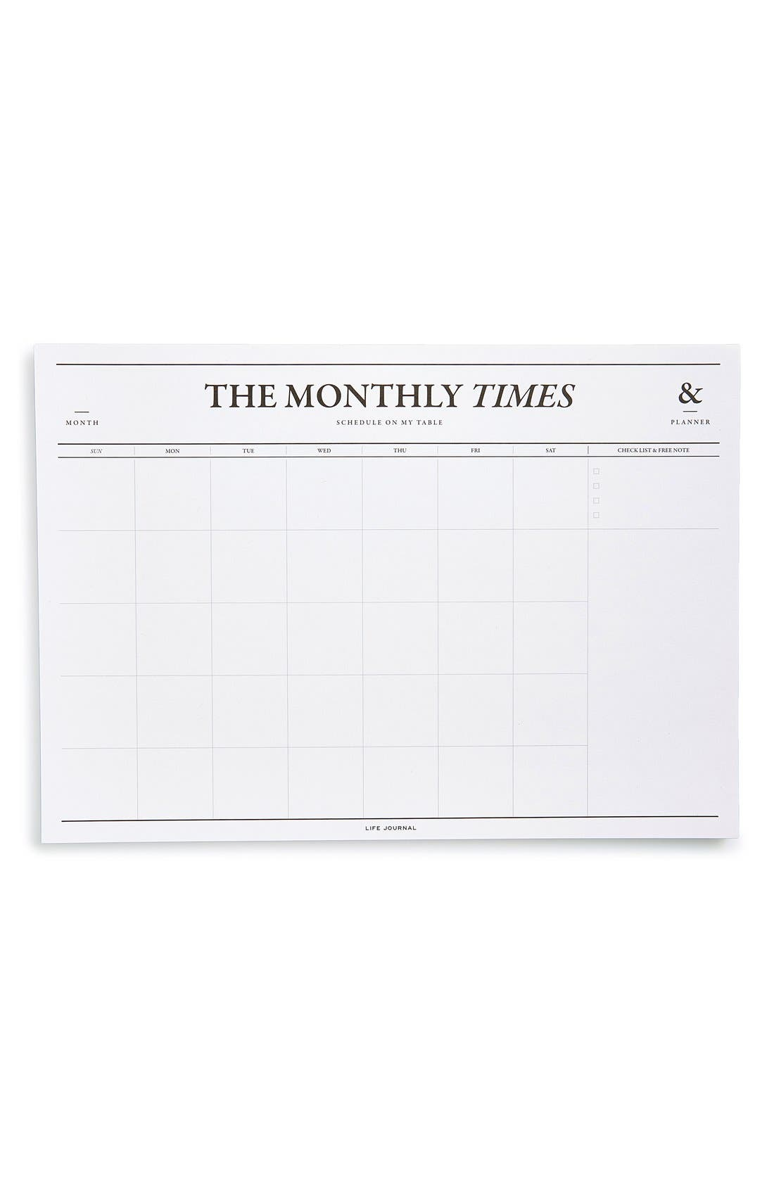 'The Monthly Times' Desk Notepad & Planner,                             Alternate thumbnail 2, color,                             102