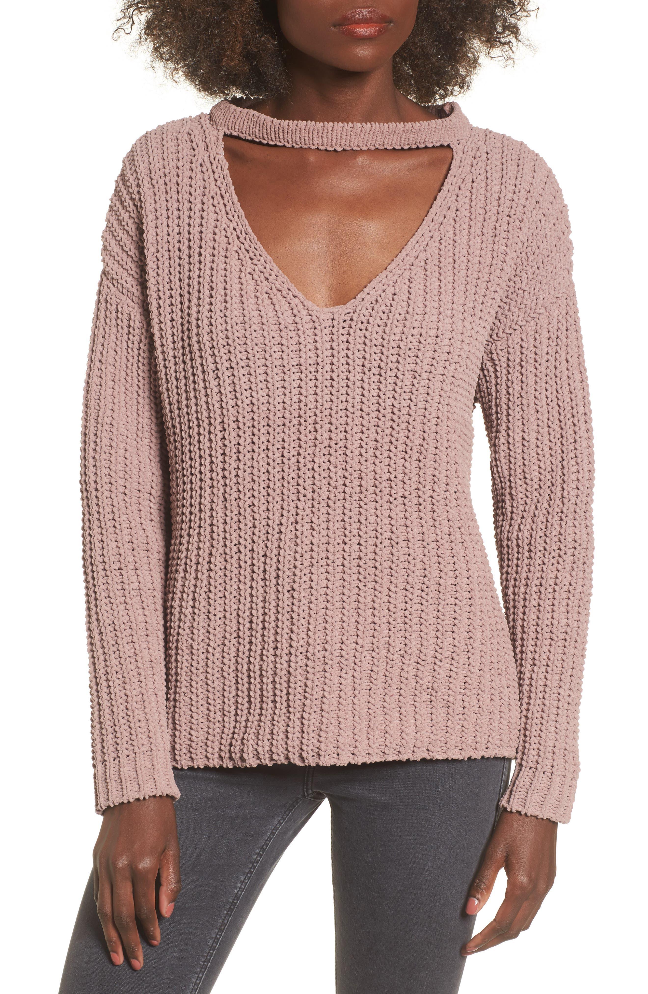 Mary Lous Choker Sweater,                             Main thumbnail 2, color,