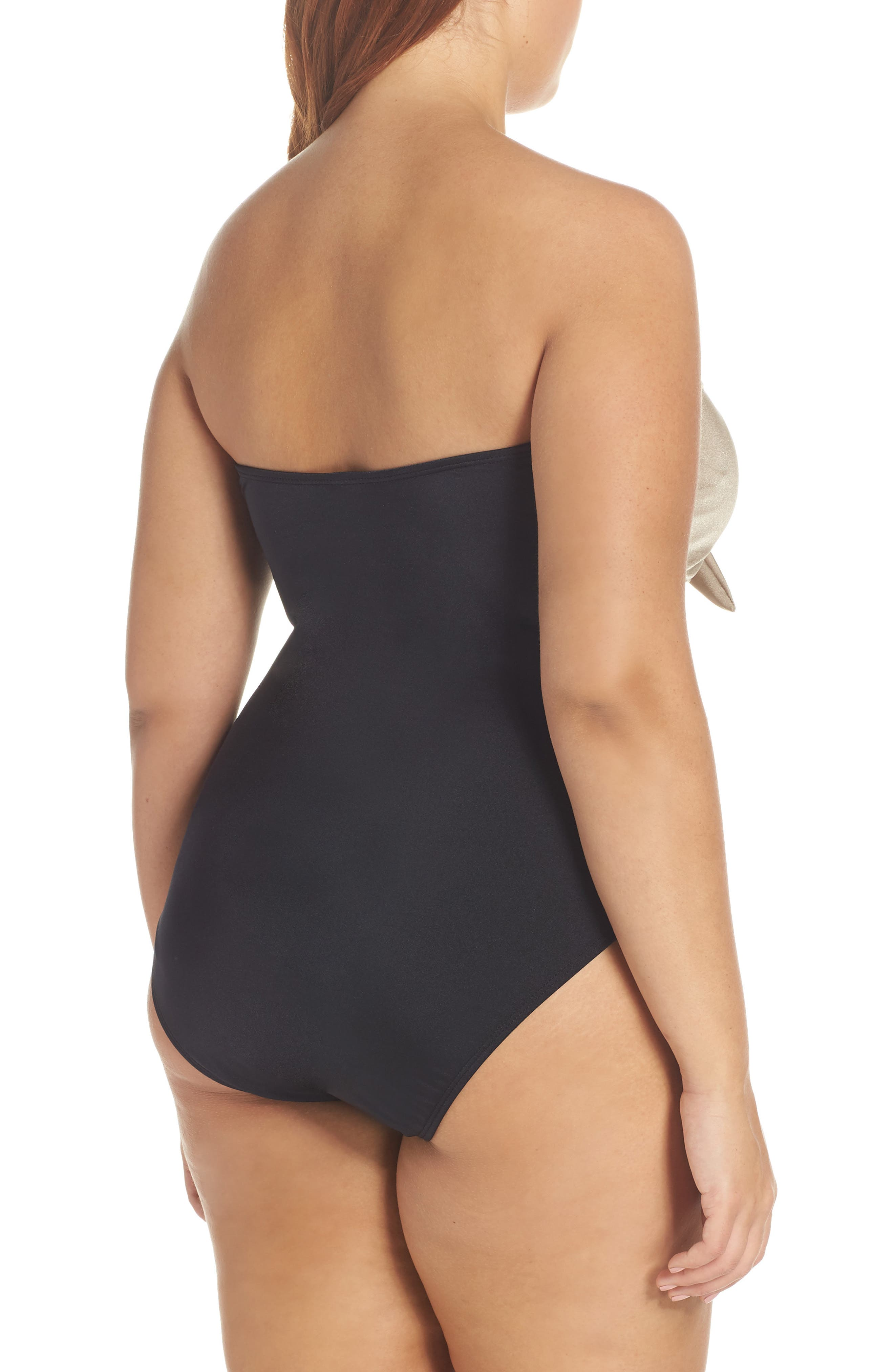 Glam Nights One-Piece Swimsuit,                             Alternate thumbnail 10, color,                             TAN MINK/ BLACK
