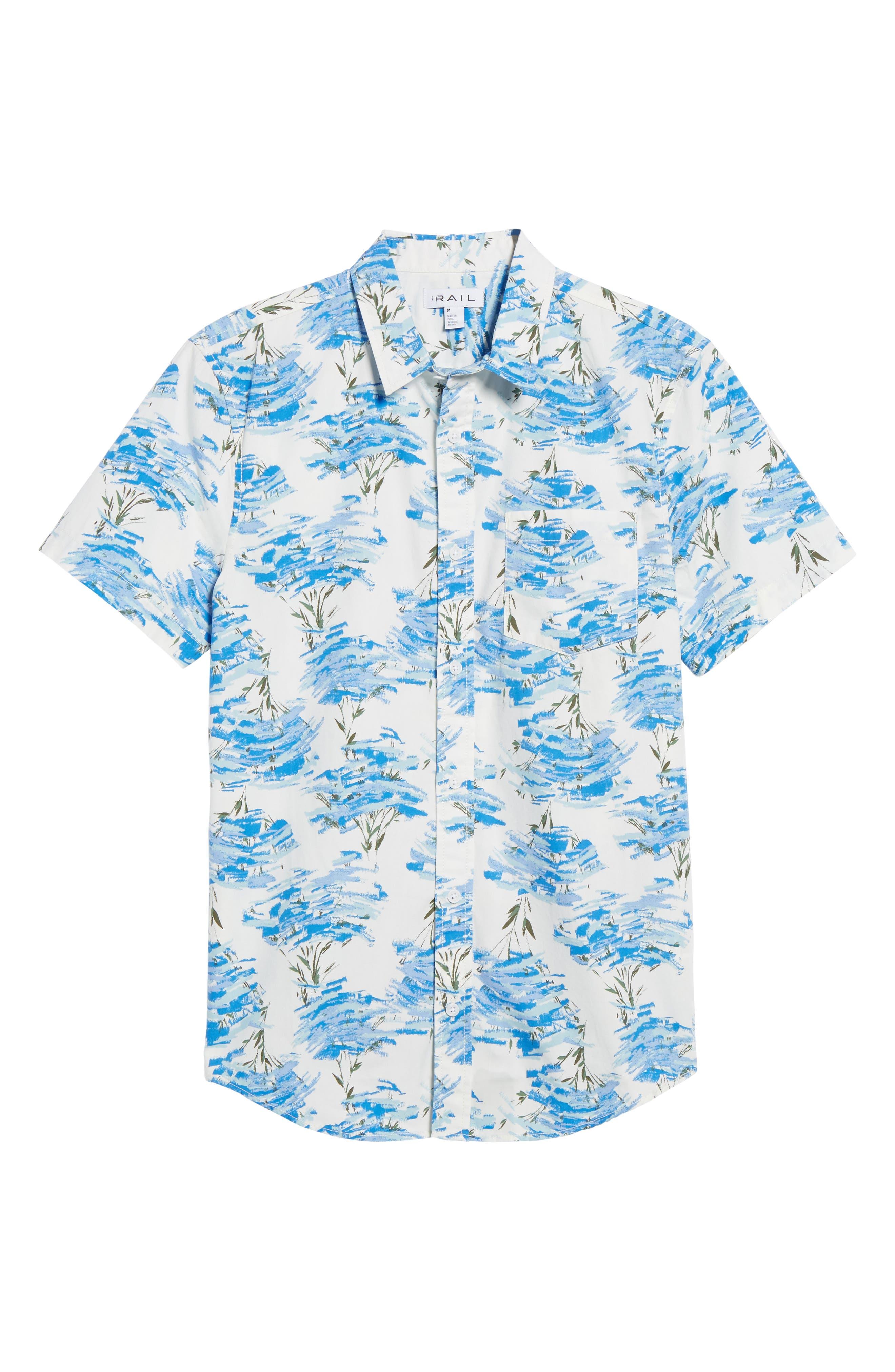 Short Sleeve Print Poplin Shirt,                             Alternate thumbnail 30, color,