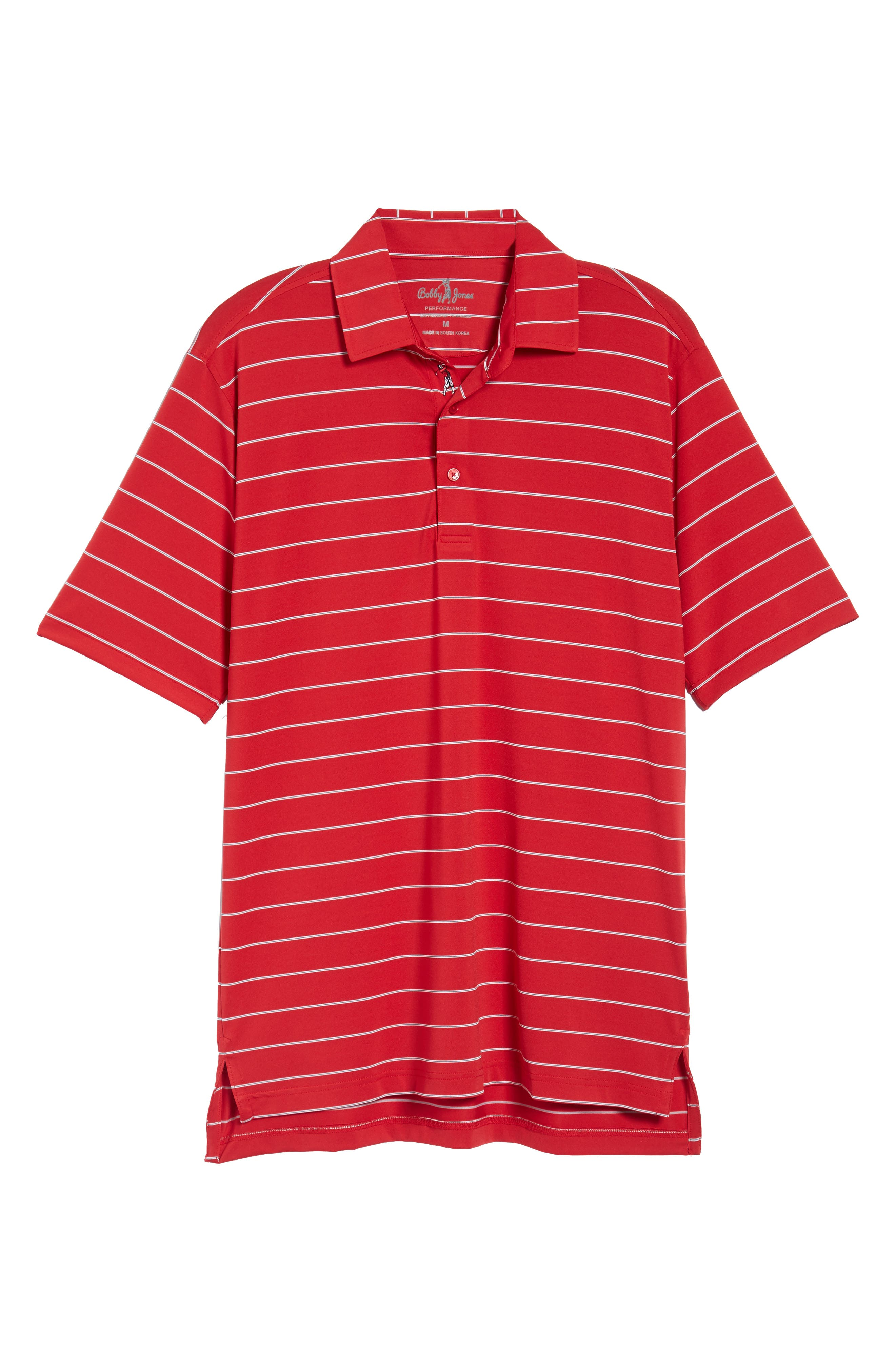 XH2O Momentum Stripe Jersey Polo,                             Alternate thumbnail 6, color,                             CAMBRIDGE RED