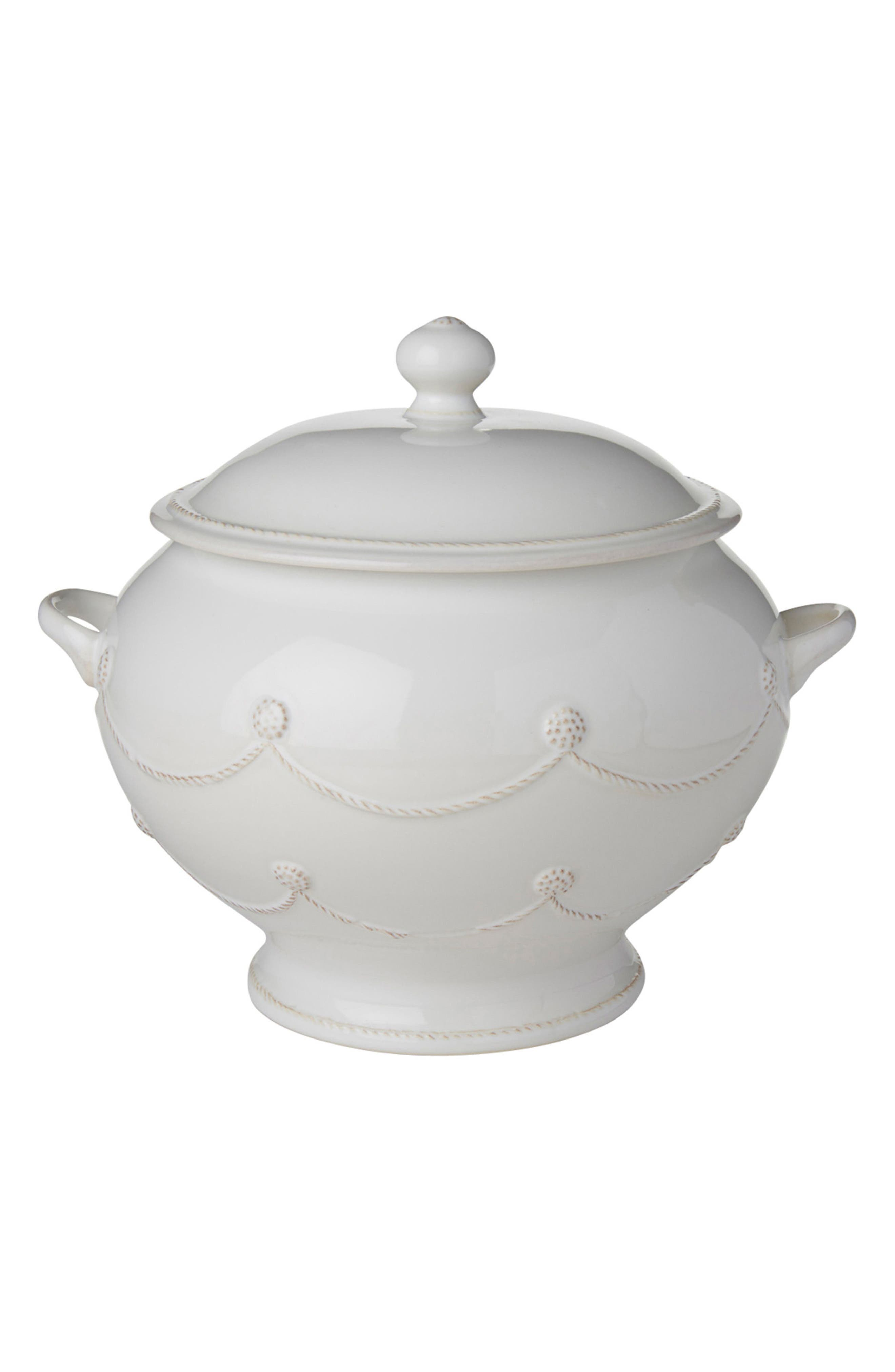 Berry & Thread Ceramic Soup Tureen,                         Main,                         color, WHITEWASH