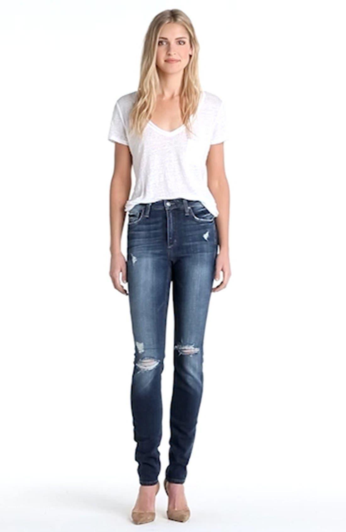High Rise Skinny Jeans,                             Alternate thumbnail 3, color,                             400