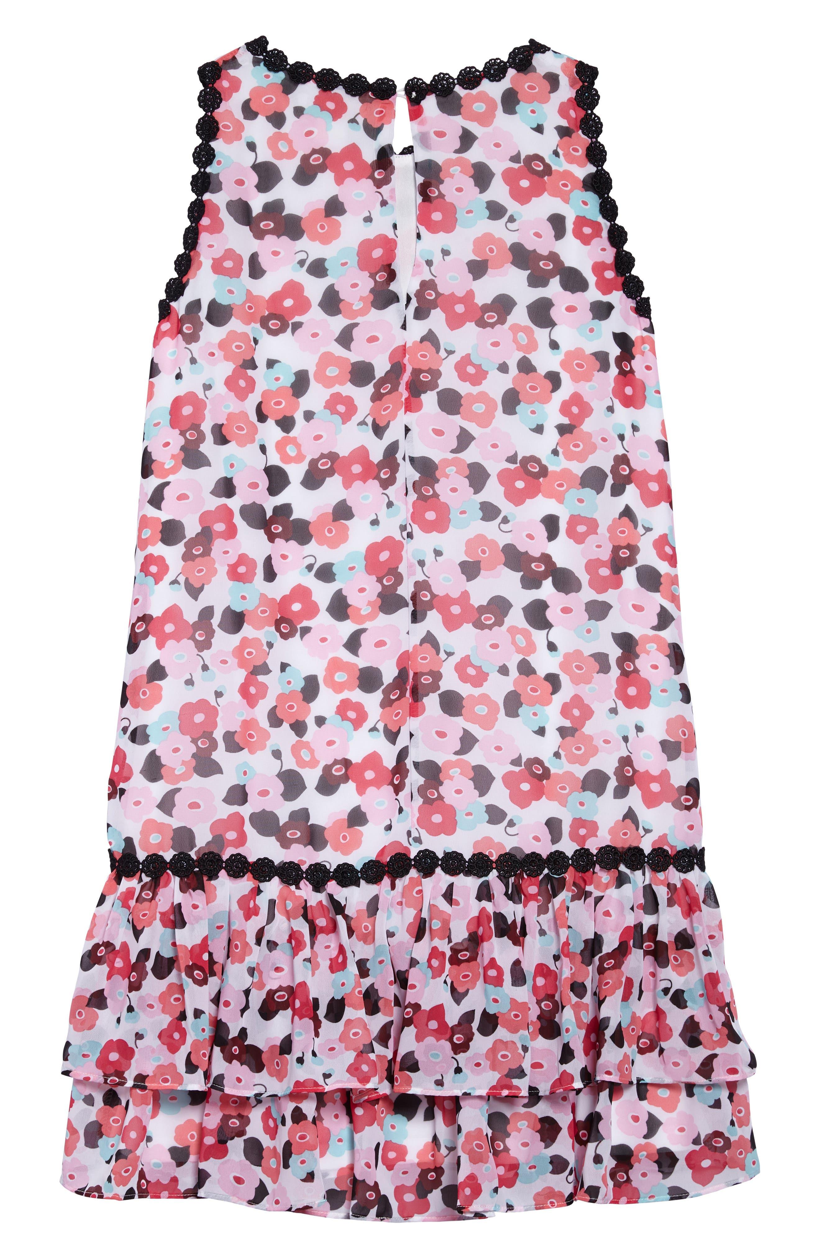 blooming floral dress,                             Alternate thumbnail 2, color,                             650