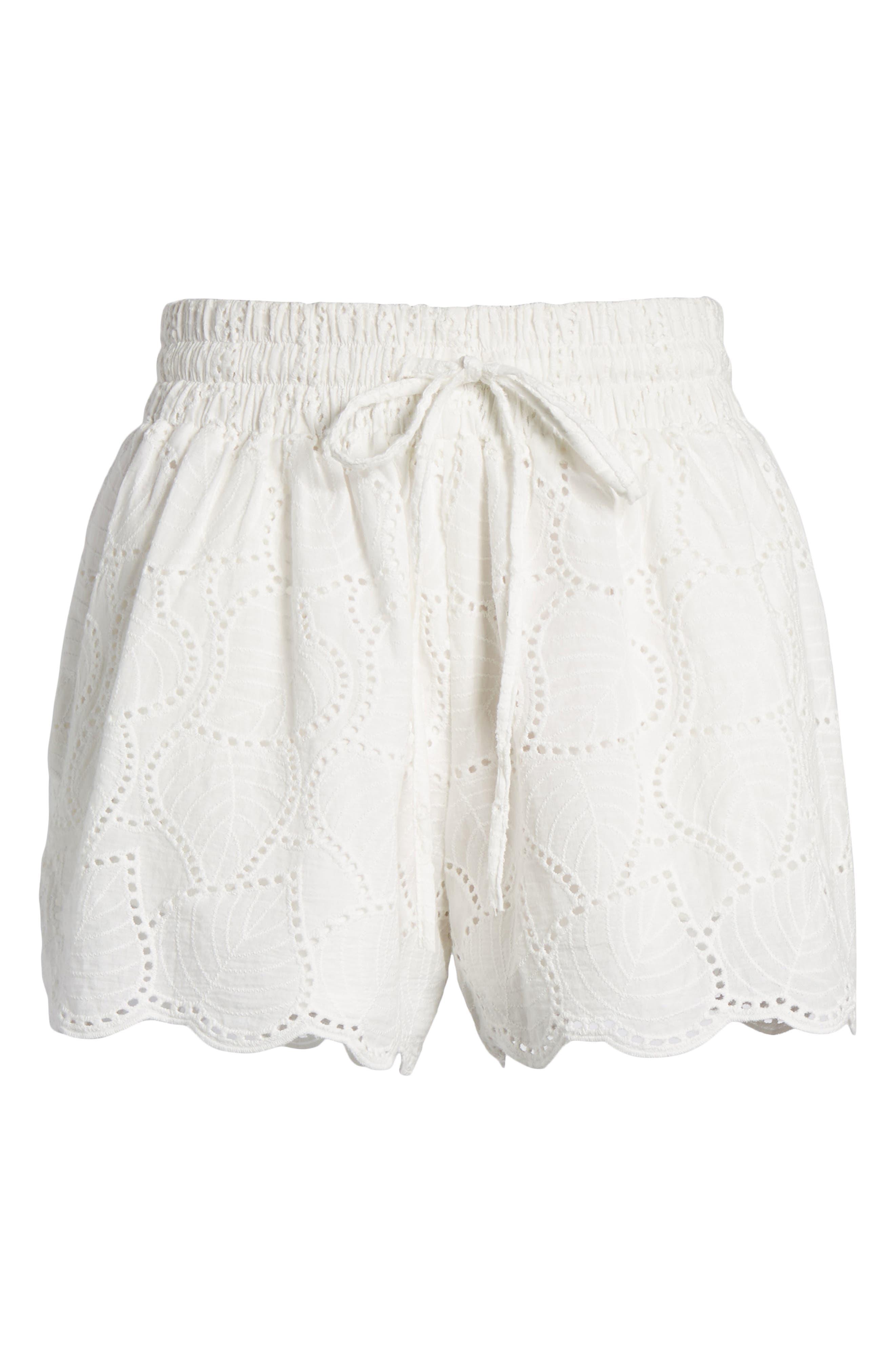Bishop + Young Eyelet Shorts,                             Alternate thumbnail 6, color,                             100