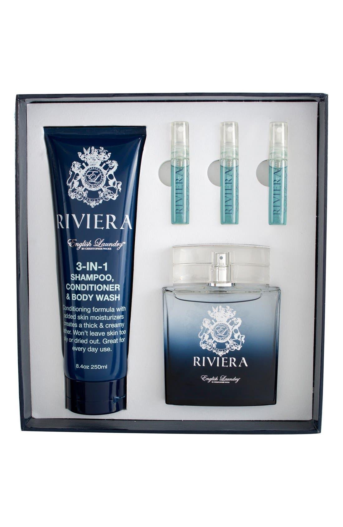 'Riviera' Fragrance Gift Set,                             Main thumbnail 1, color,                             000