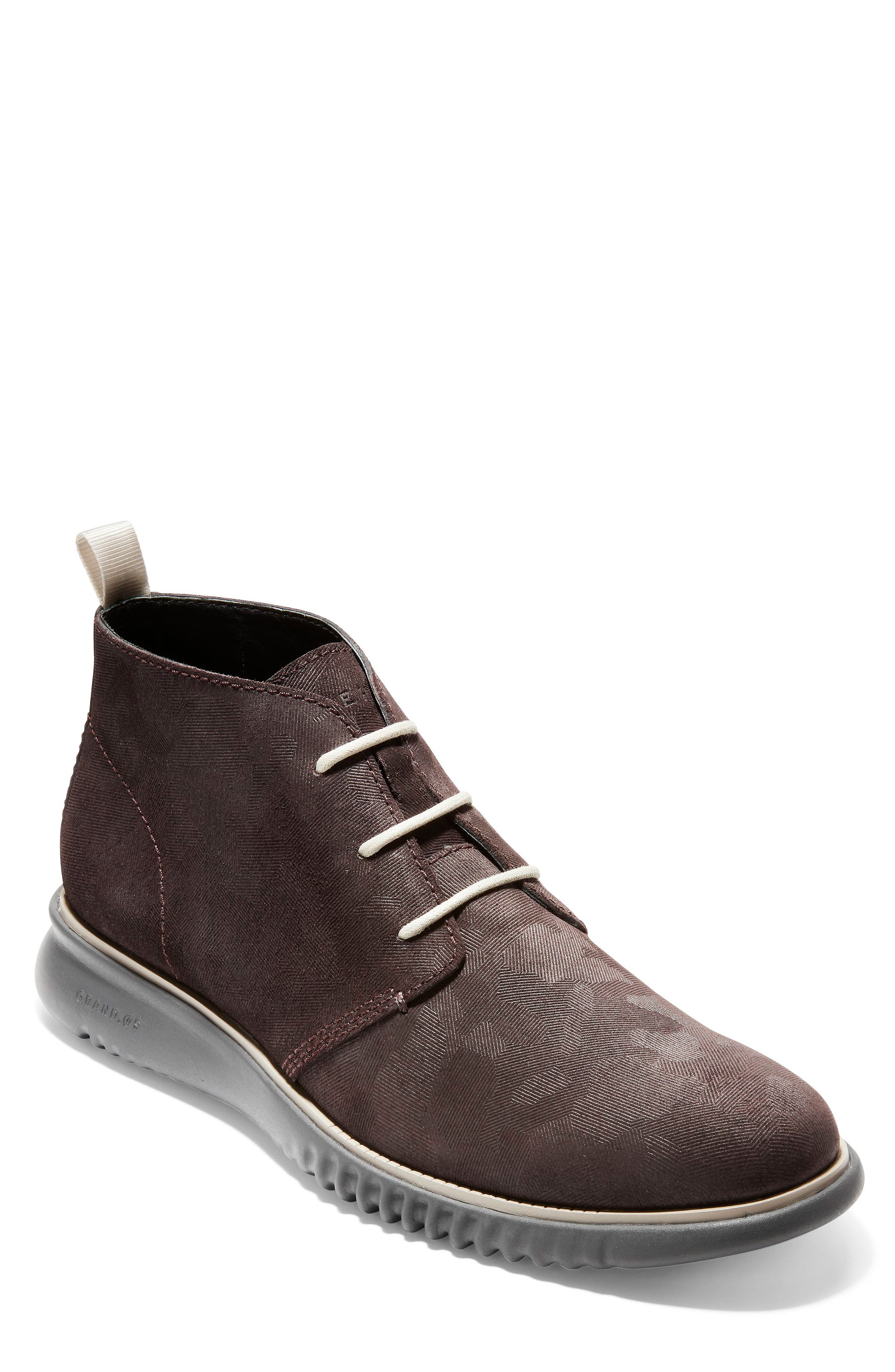 2.Zerogrand Chukka Boot,                             Main thumbnail 1, color,                             BLACK/ WALNUT SUEDE