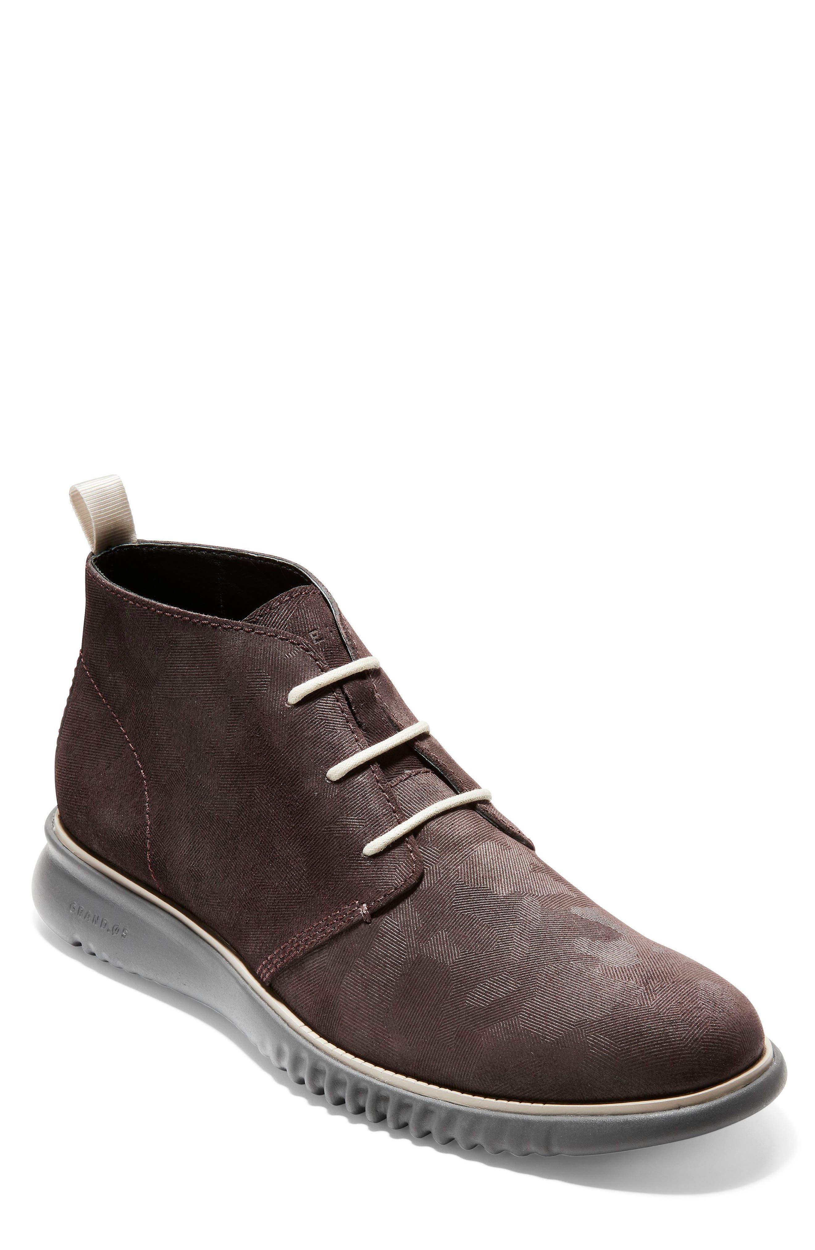 2.Zerogrand Chukka Boot,                         Main,                         color, BLACK/ WALNUT SUEDE