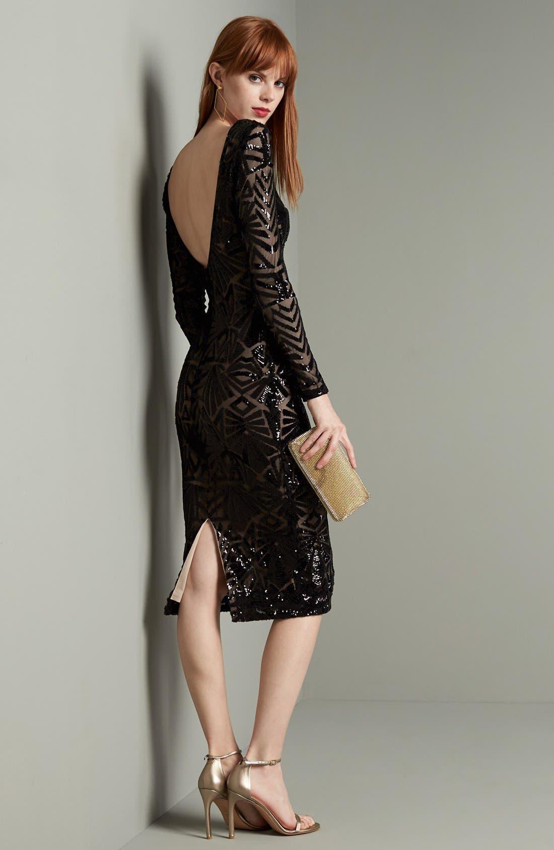 Emery Midi Dress,                             Alternate thumbnail 8, color,