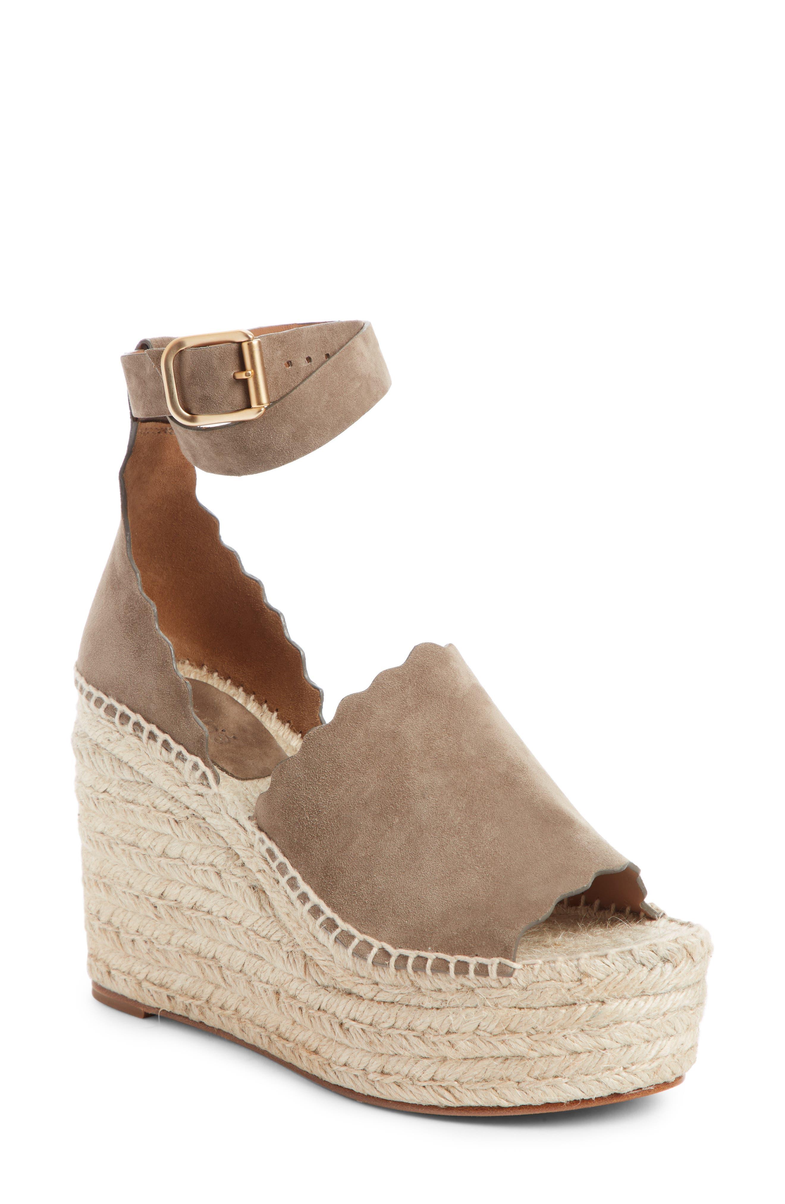 Lauren Espadrille Wedge Sandal,                         Main,                         color, MAPLE BROWN SUEDE