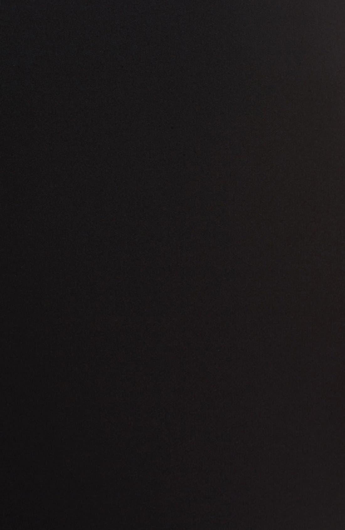 Silk Crepe Bateau Neck Shell,                             Alternate thumbnail 7, color,                             BLACK