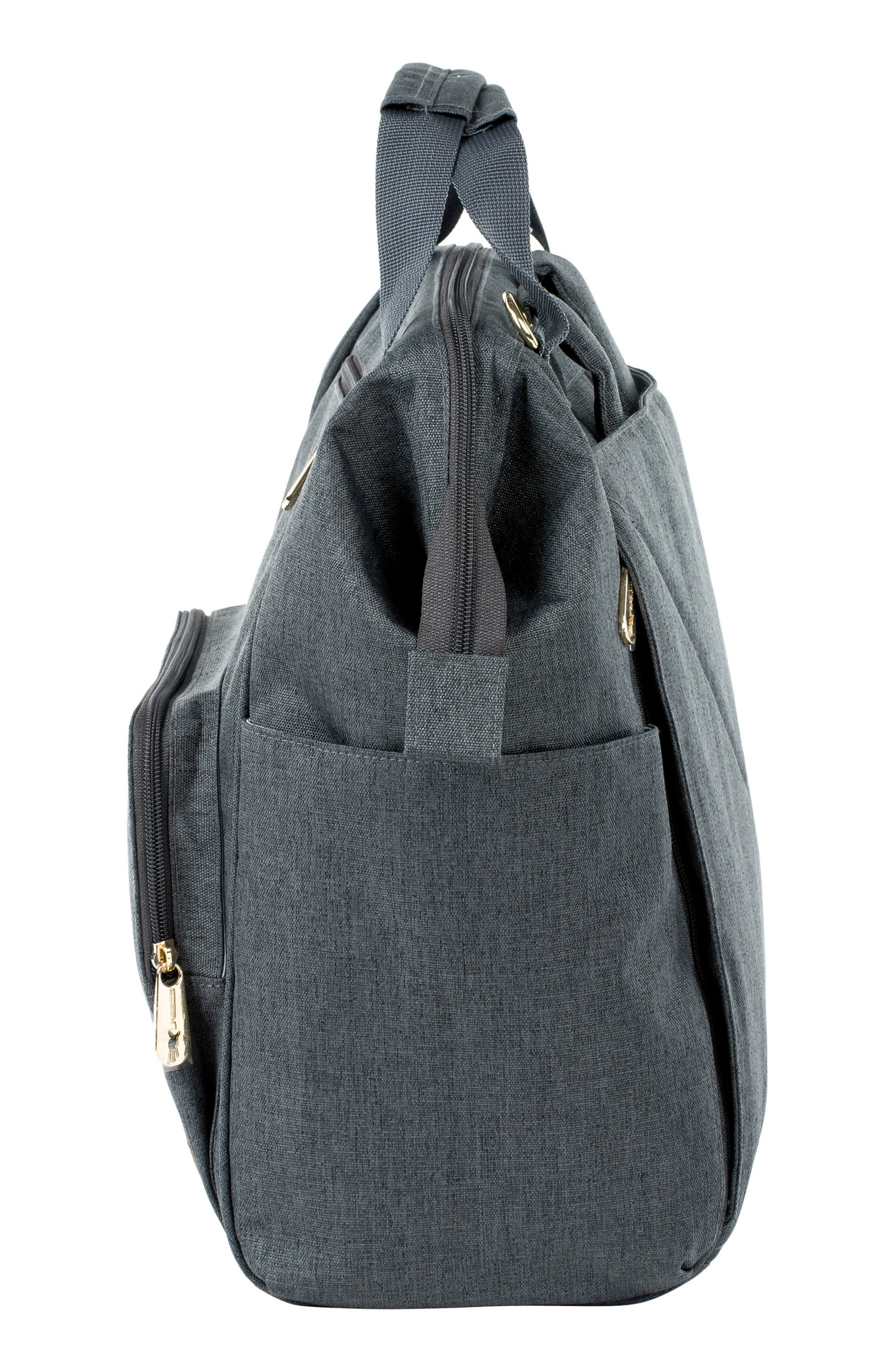 Glam Goldie Diaper Backpack,                             Alternate thumbnail 4, color,                             ANTHRACITE