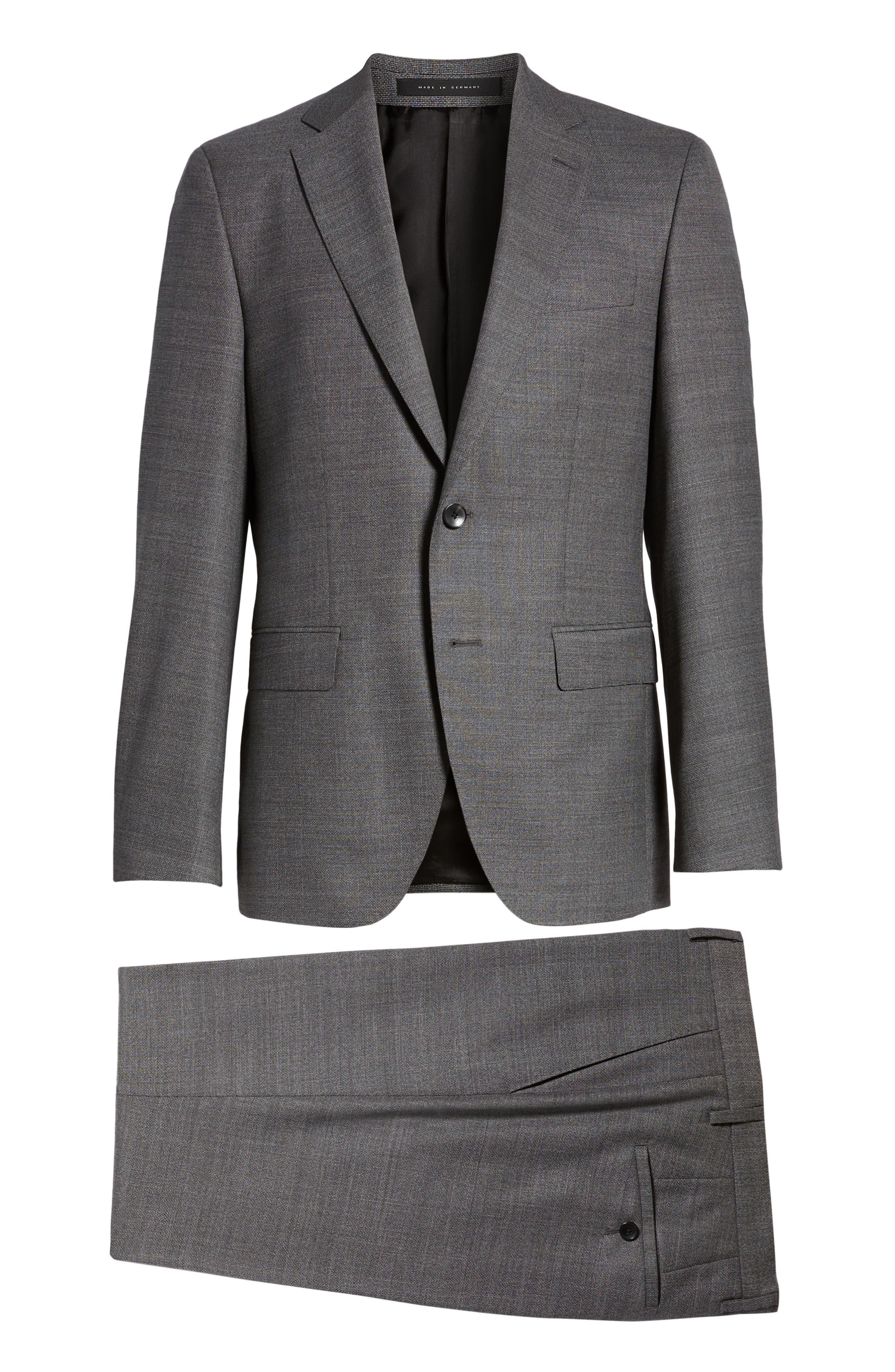 Johnstons/Lenon Classic Fit Solid Wool Suit,                             Alternate thumbnail 8, color,                             020