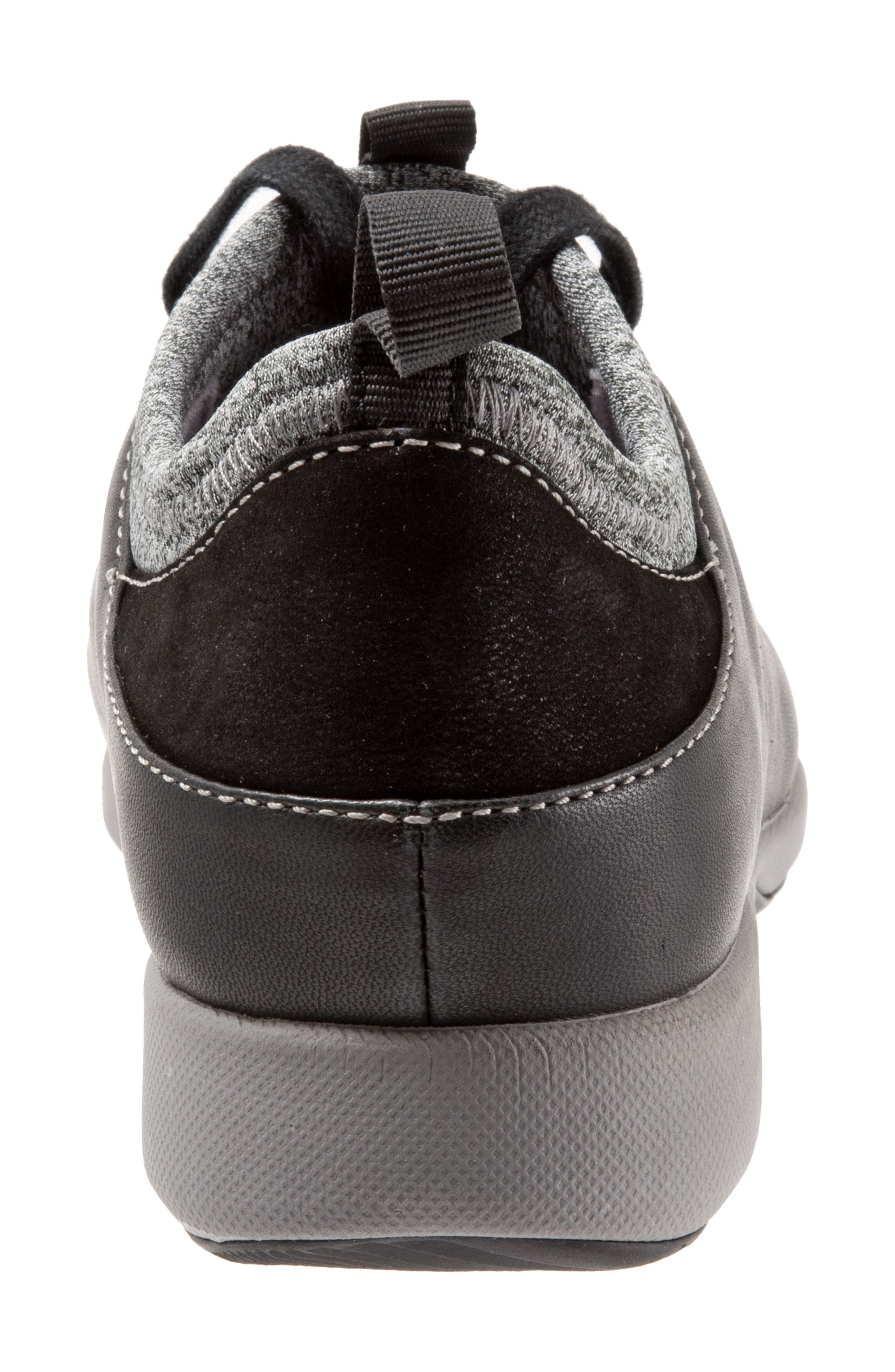 SAVA Haven Sneaker,                             Alternate thumbnail 7, color,                             BLACK/ GREY LEATHER