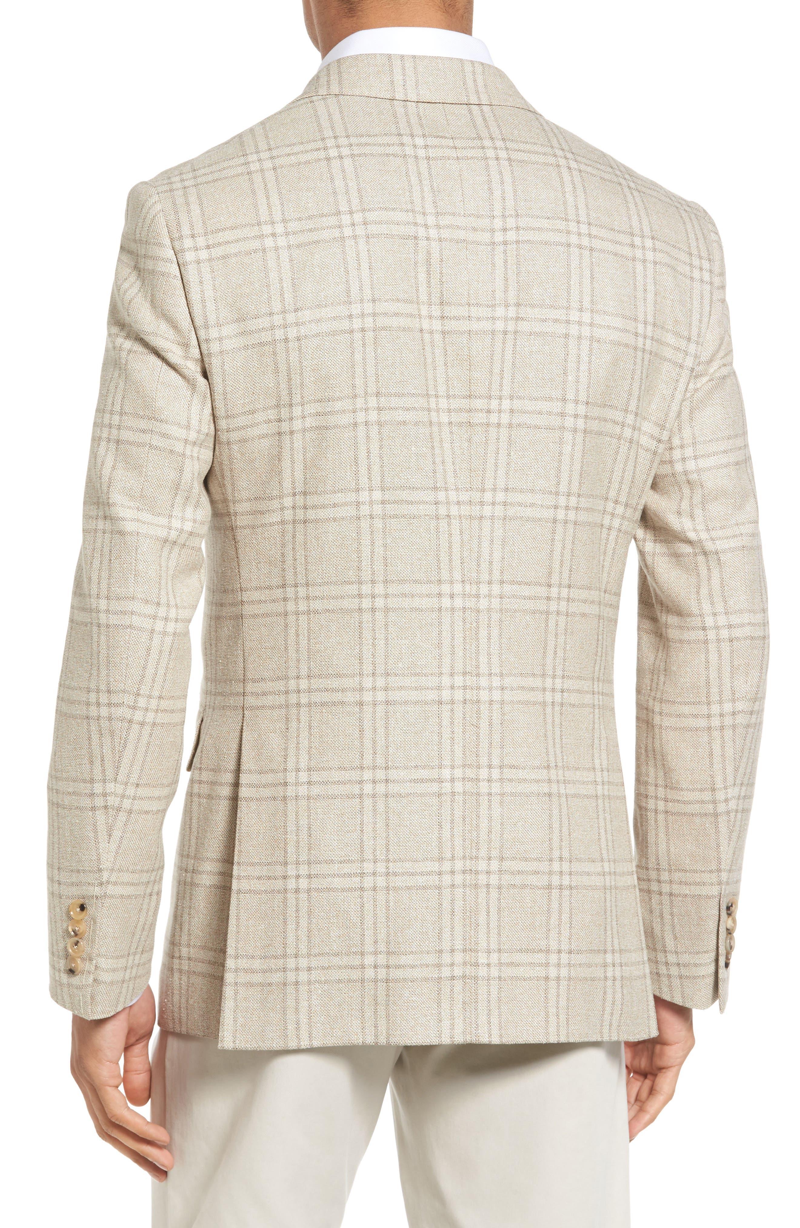 Plaid Wool Blend Sport Coat,                             Alternate thumbnail 2, color,                             252