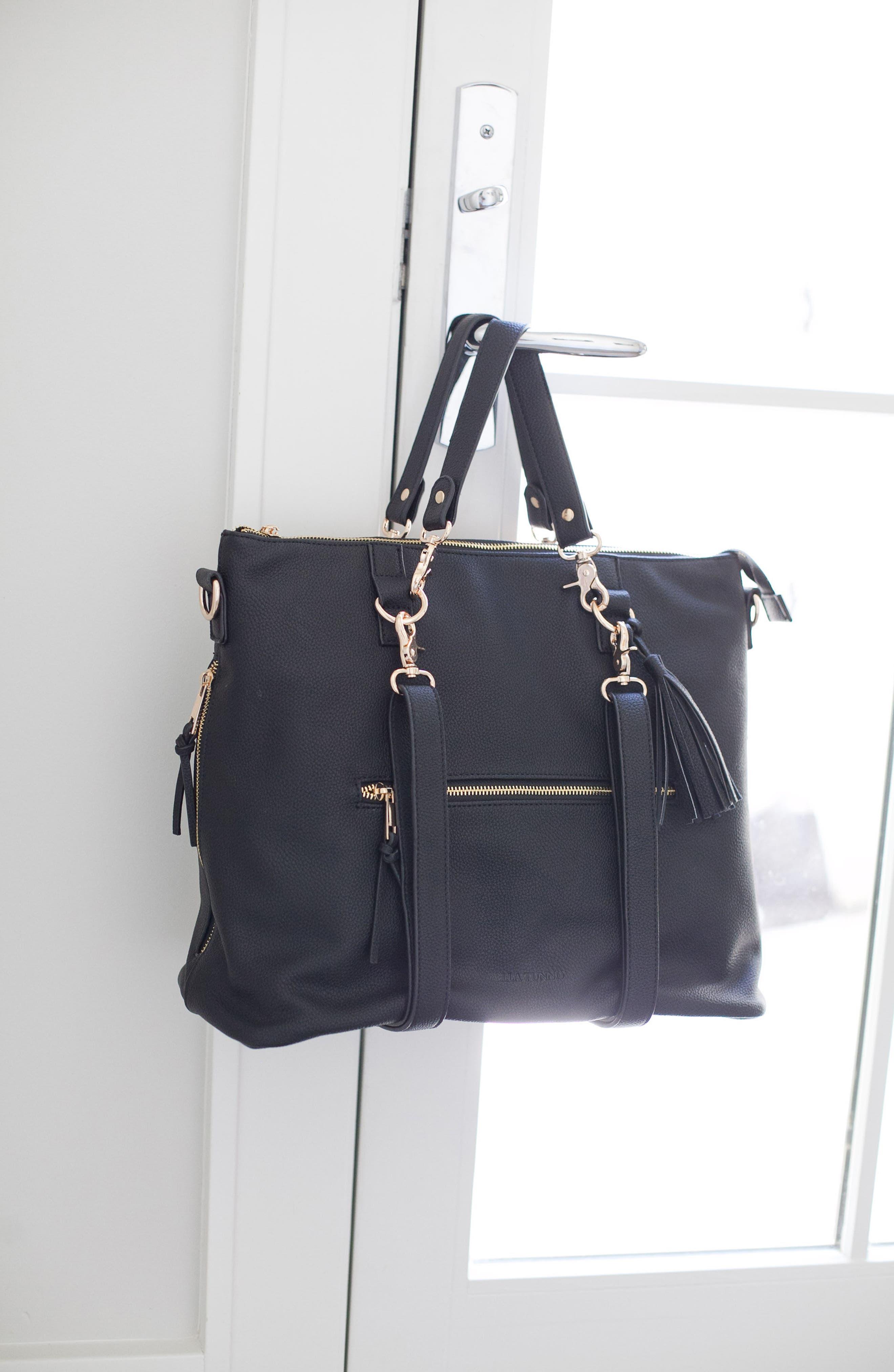Boss Convertible Diaper Backpack,                             Alternate thumbnail 6, color,                             BLACK