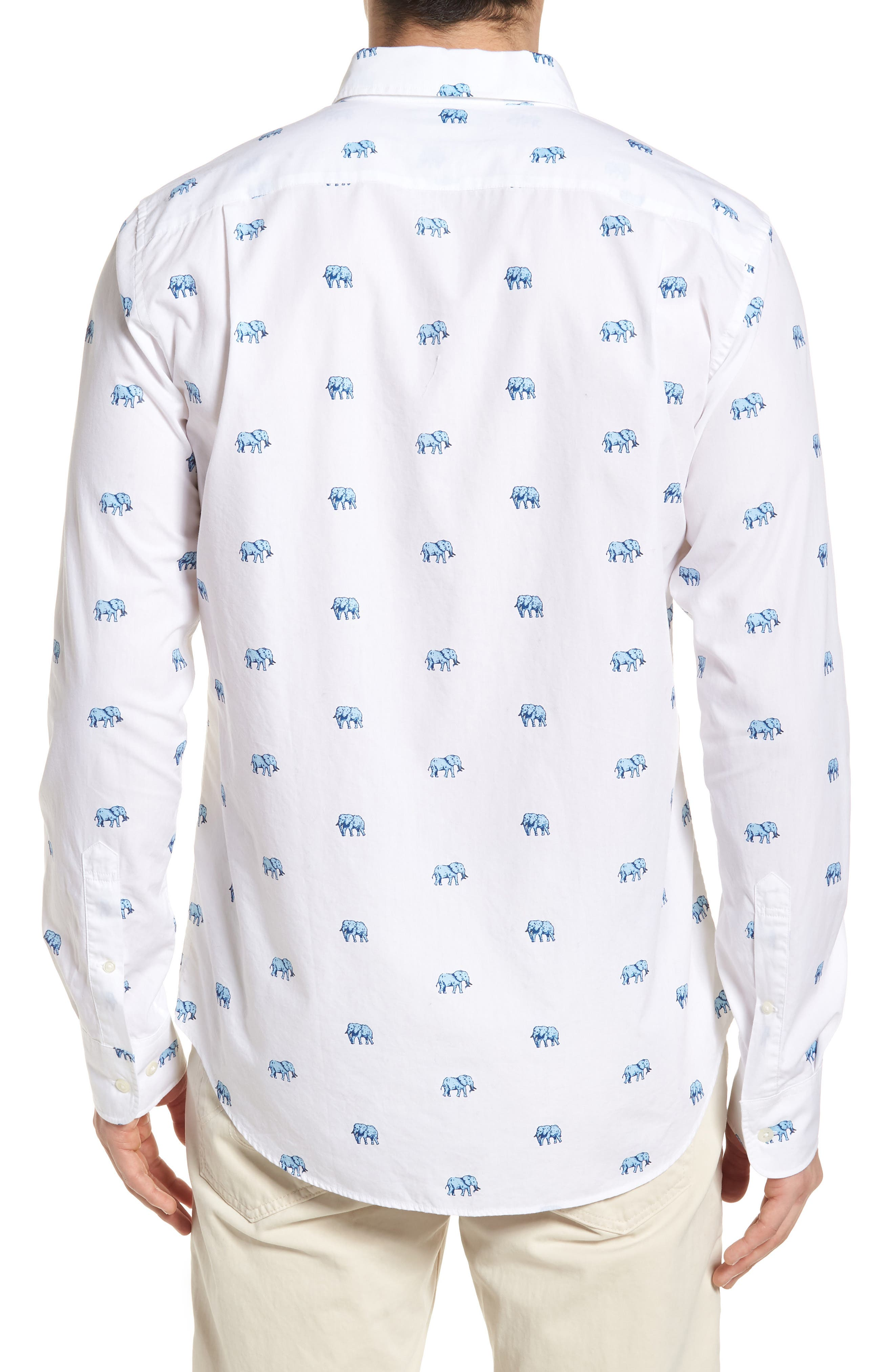 Slim Fit Washed Elephant Sport Shirt,                             Alternate thumbnail 2, color,                             100