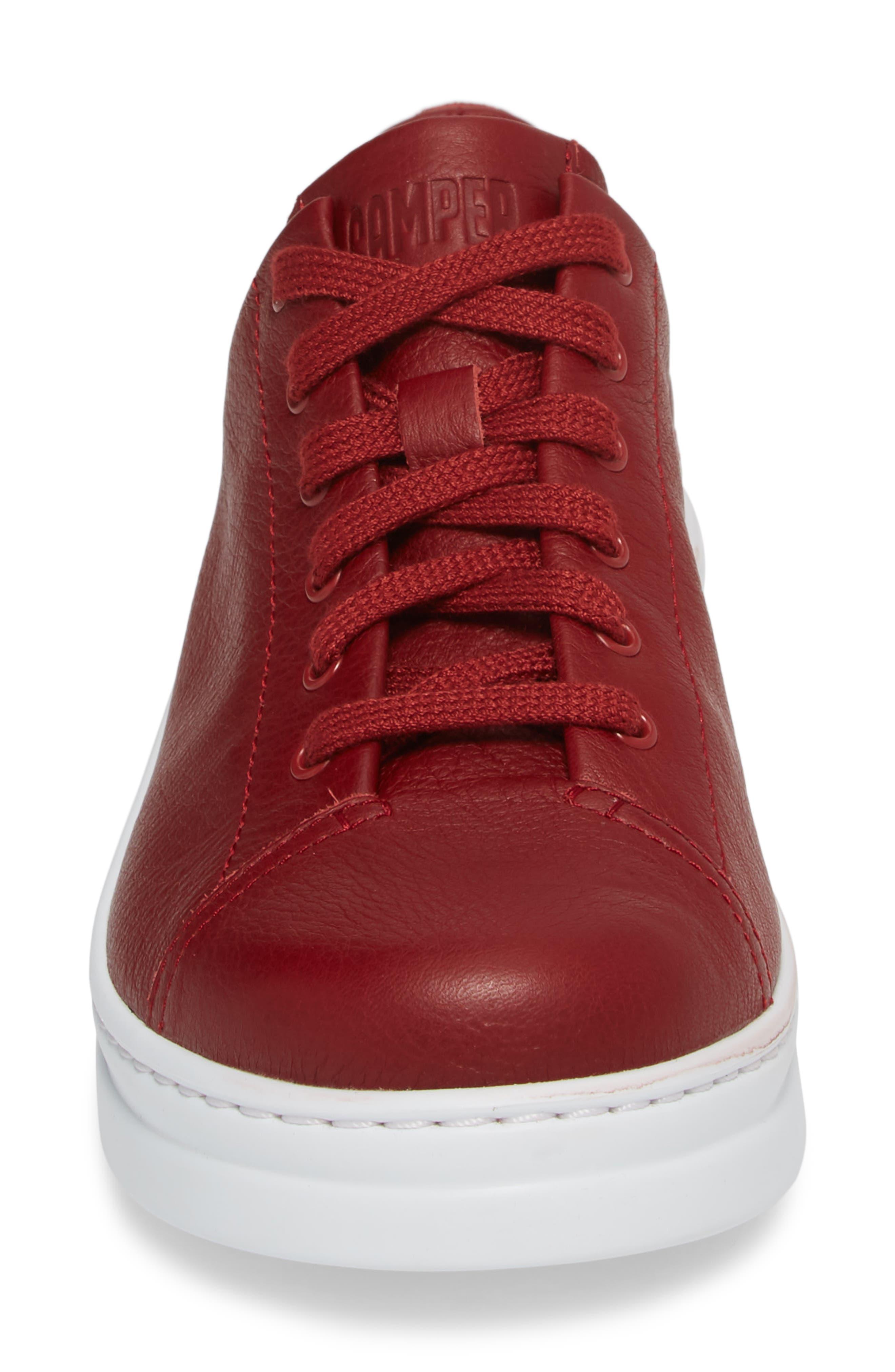 CAMPER,                             Runner Up Sneaker,                             Alternate thumbnail 4, color,                             DARK RED LEATHER