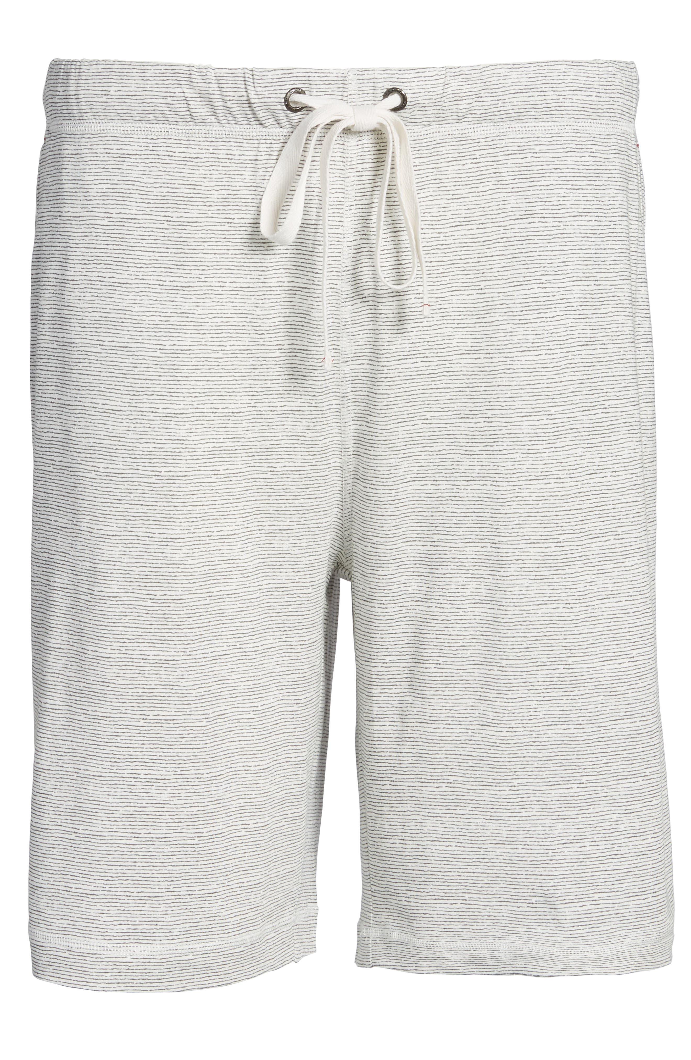 Feeder Stripe Pima Cotton & Modal Lounge Shorts,                             Alternate thumbnail 6, color,                             020