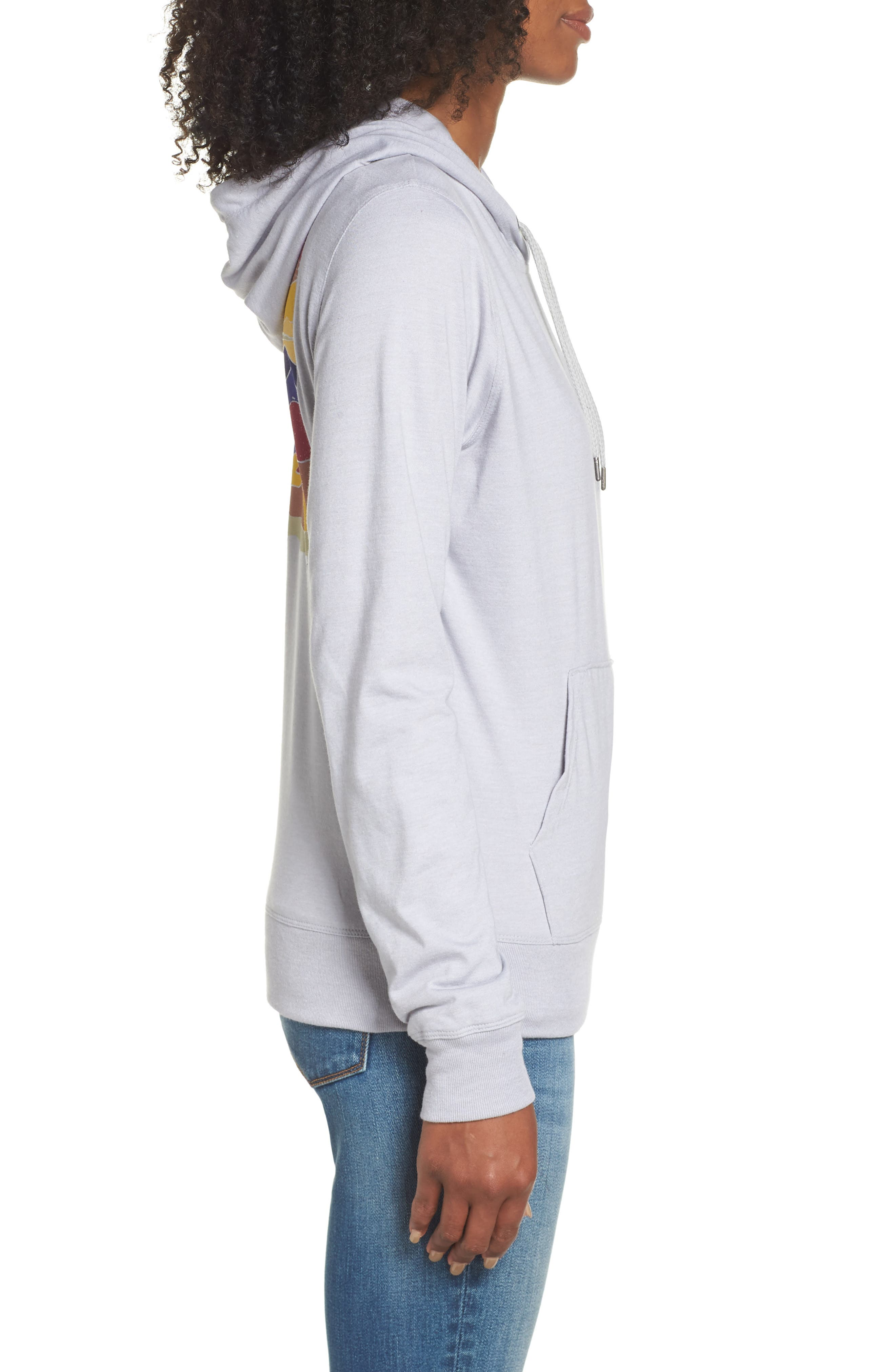 Lightweight Hoodie Sweatshirt,                             Alternate thumbnail 3, color,                             TNF LIGHT GREY HEATHER