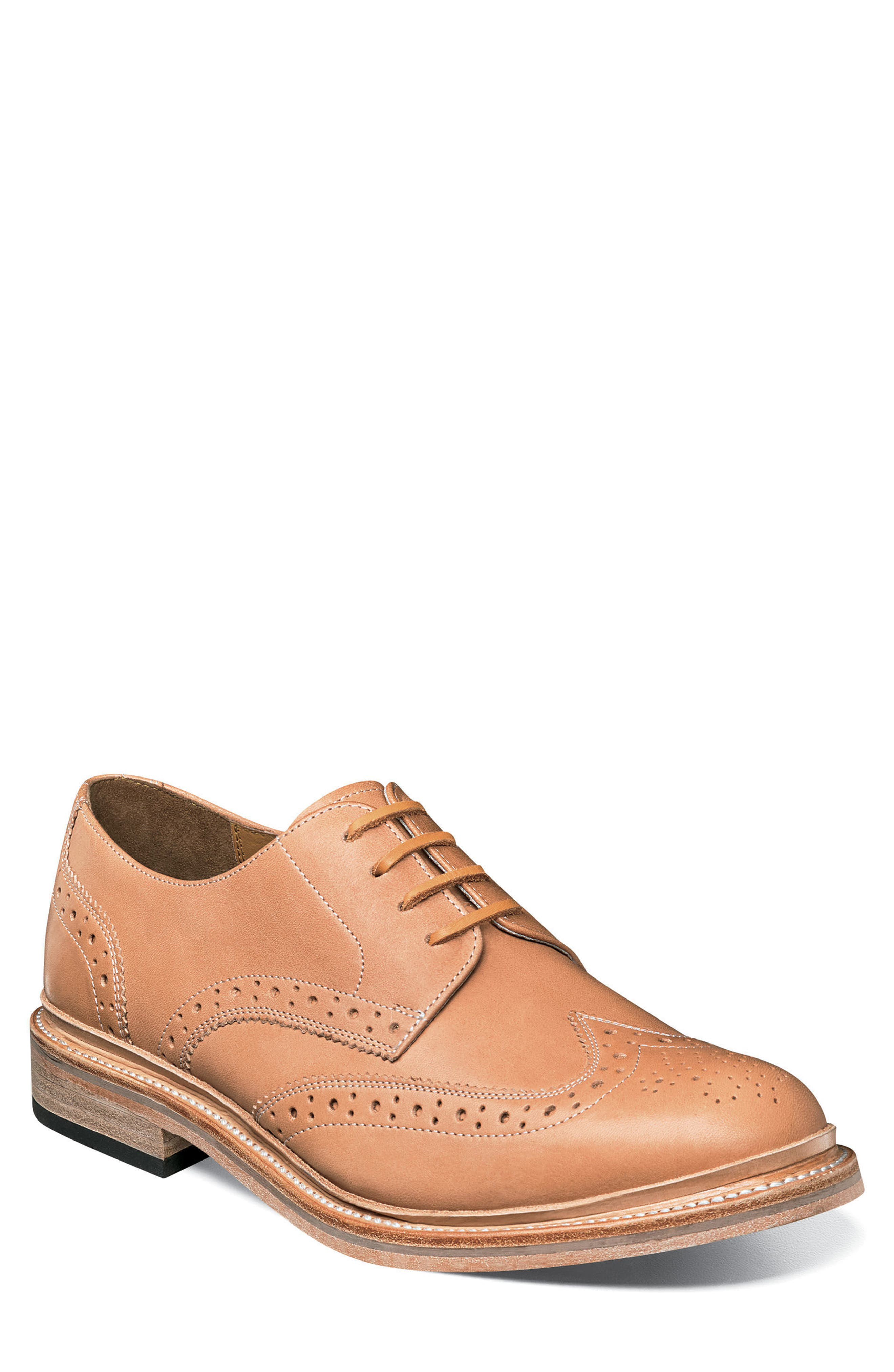 M2 Wingtip Derby,                             Main thumbnail 1, color,                             NATURAL LEATHER