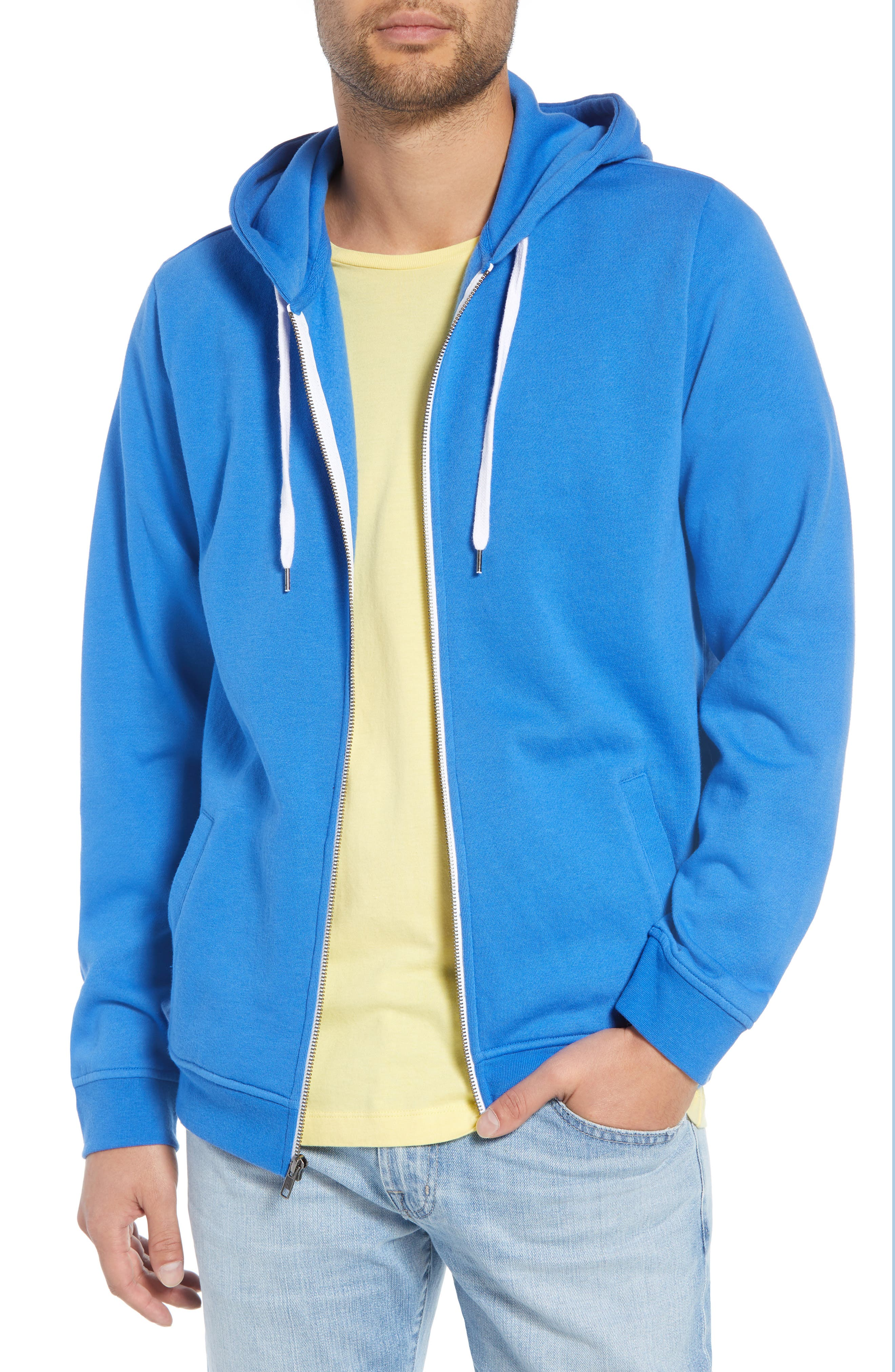 Full Zip Hoodie,                         Main,                         color, BLUE BLISS