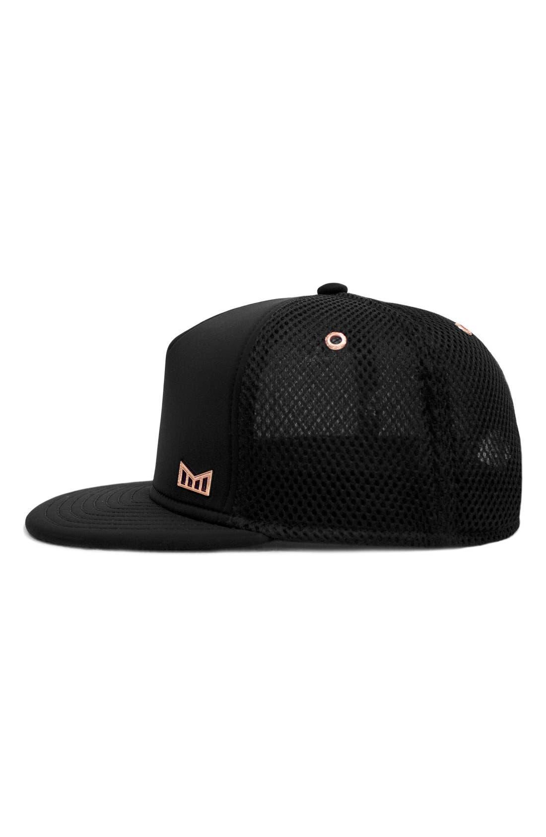 'The Majesty' Mesh Back Snapback Hat,                             Alternate thumbnail 4, color,                             BLACK