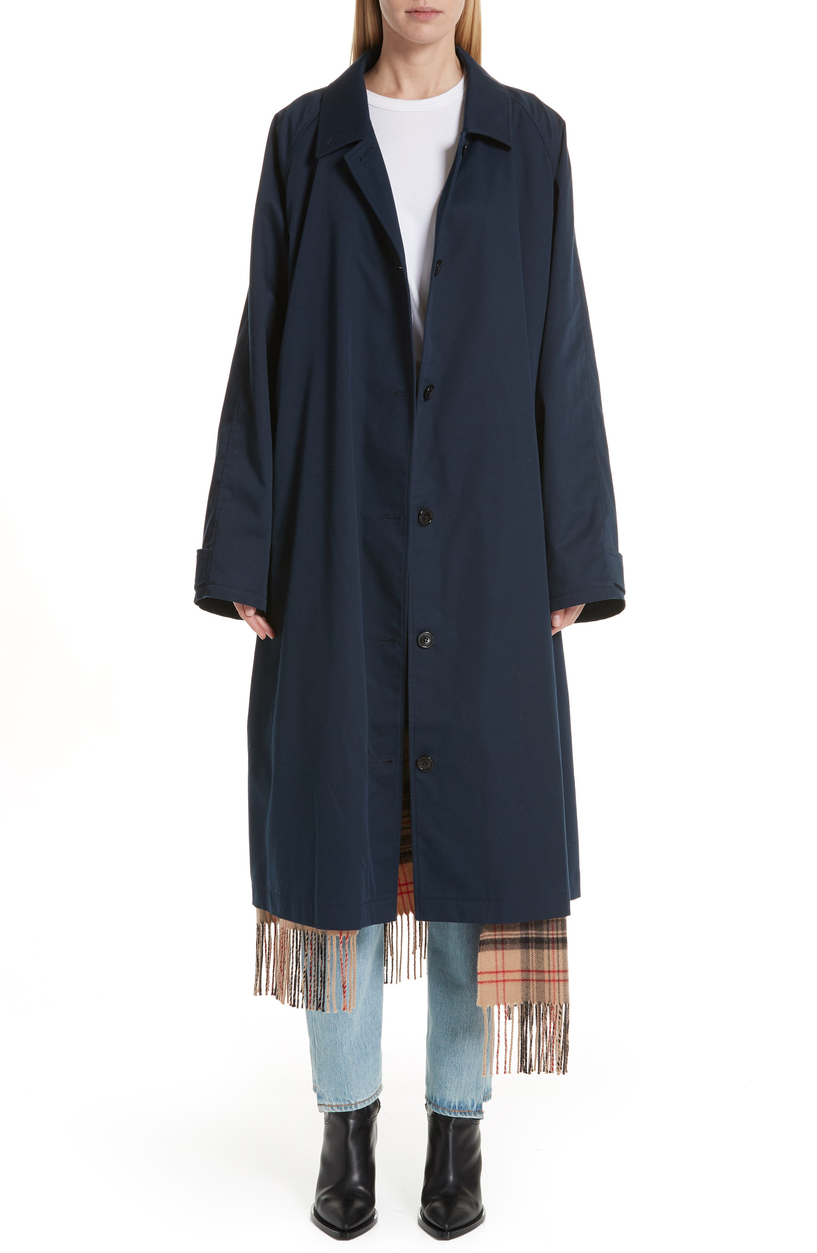 Scarf Trench Coat, Main, color, 410