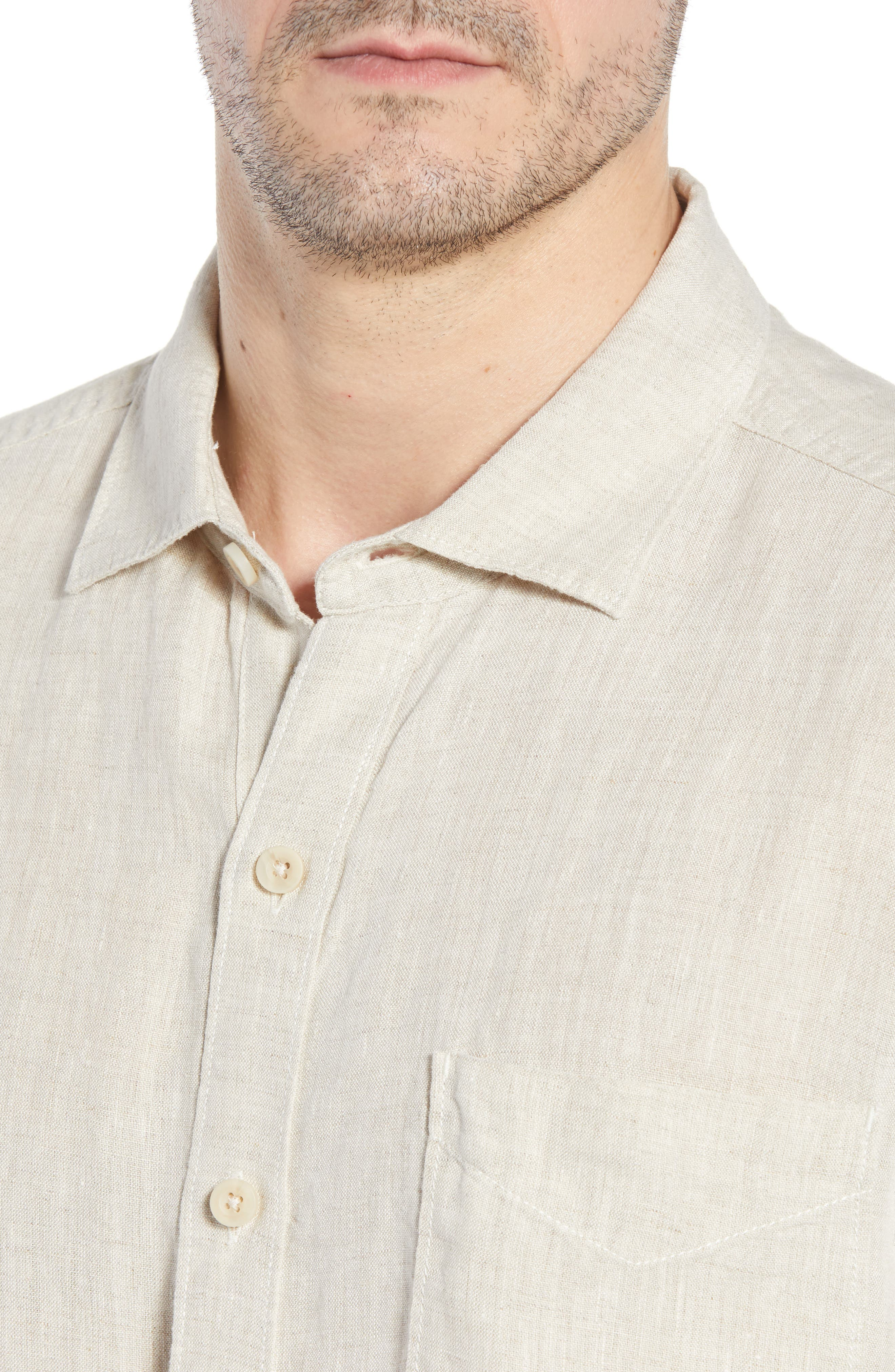 Seaspray Breezer Linen Shirt,                             Alternate thumbnail 14, color,