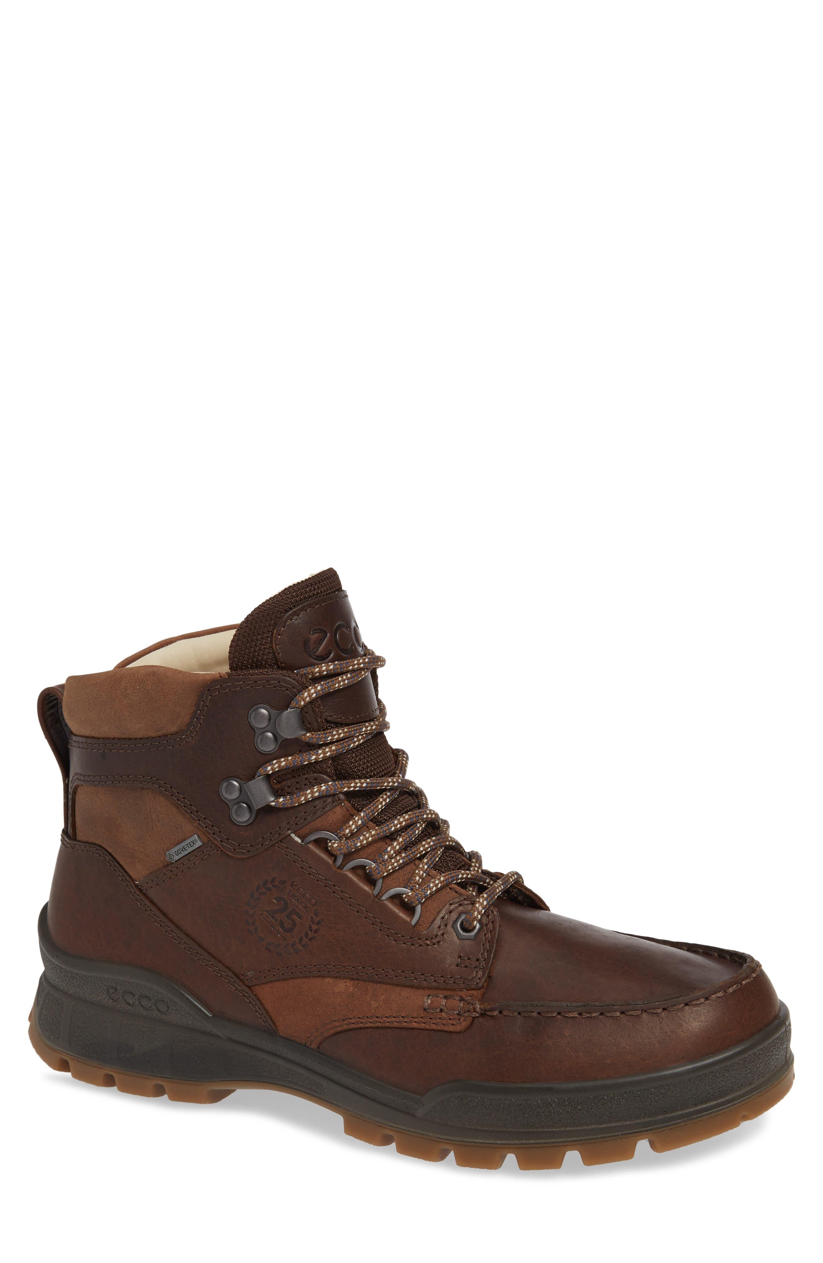 Ecco Track 25 Gore-Tex Moc Toe Waterproof Boot,8.5 - Brown