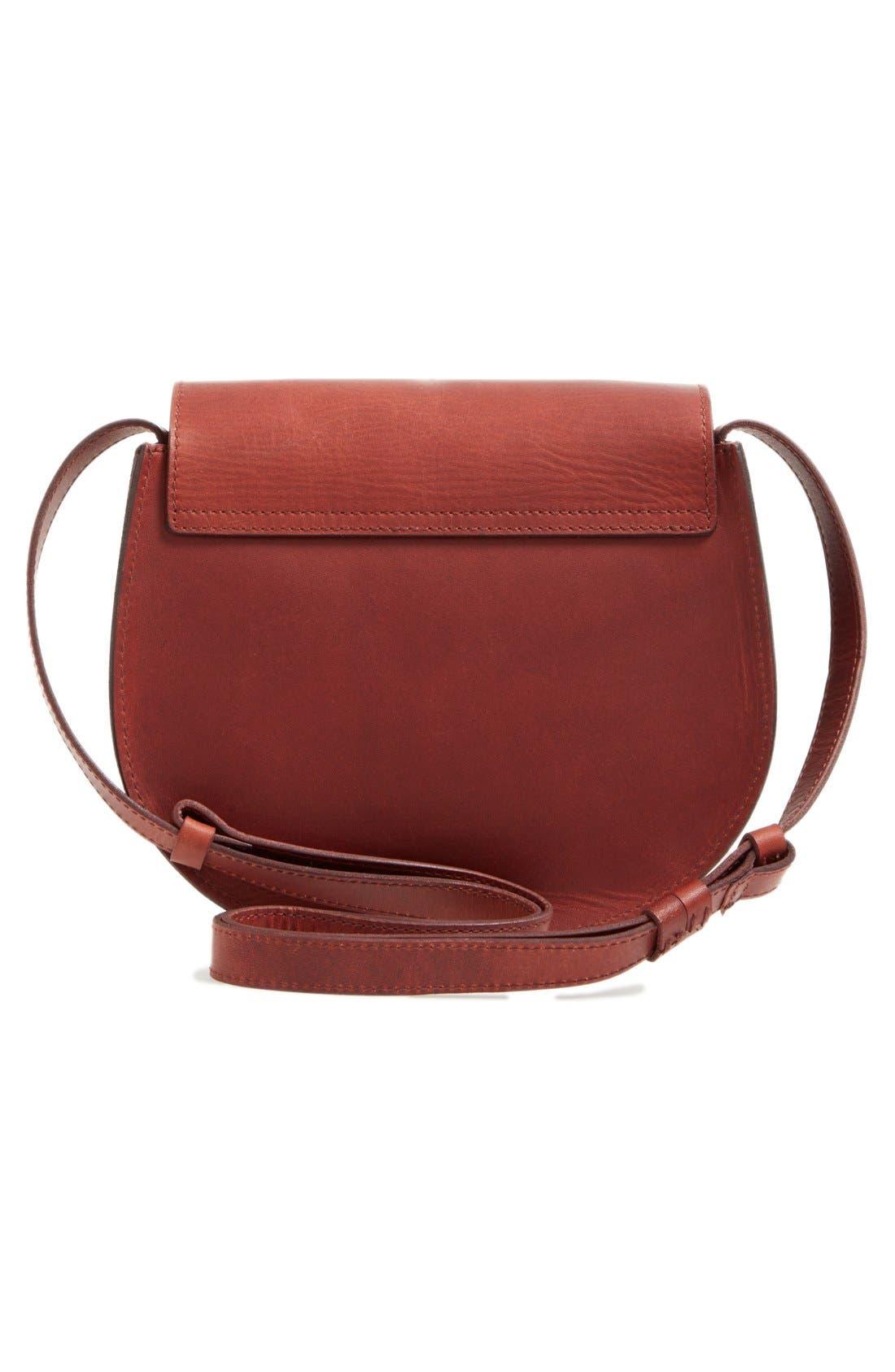 O-Ring Leather Saddle Bag,                             Alternate thumbnail 5, color,                             200