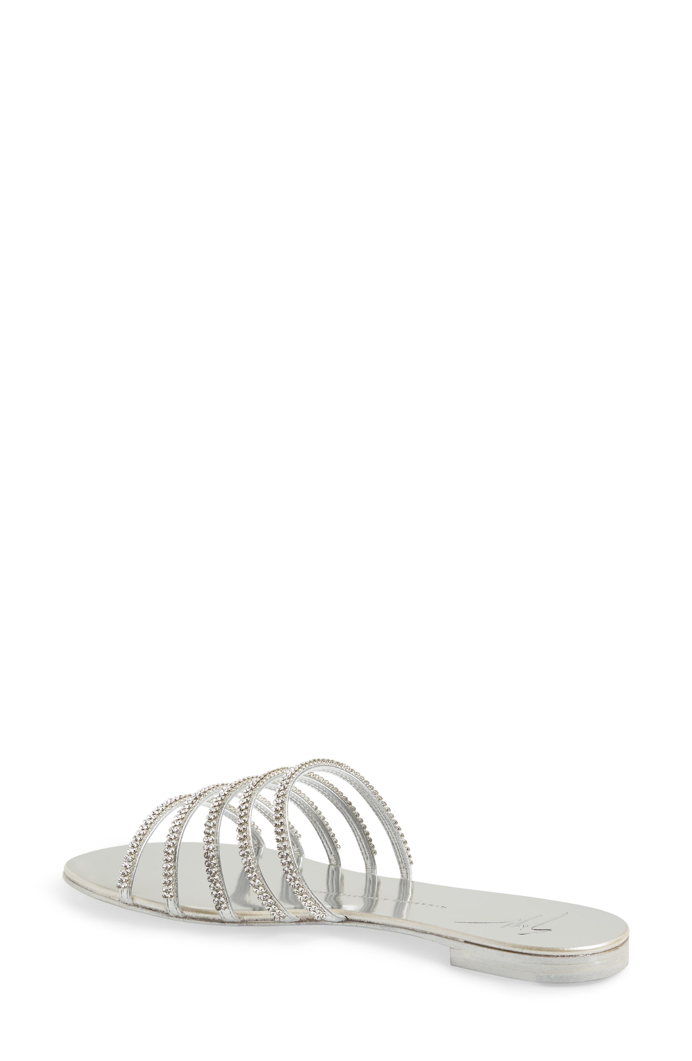 Nuvoroll Crystal Embellished Slide Sandal,                             Alternate thumbnail 2, color,                             043