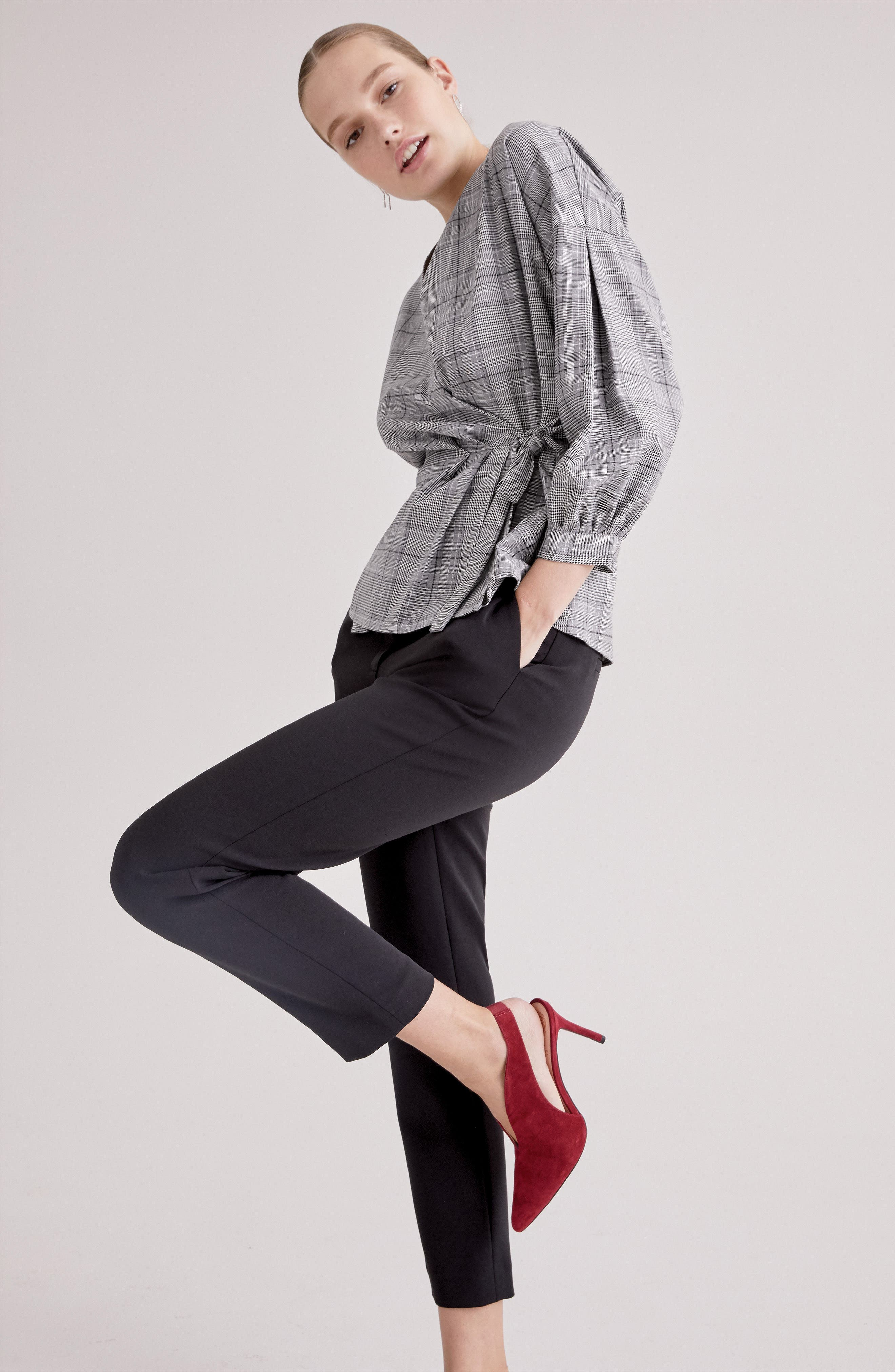 Slim Pants,                             Alternate thumbnail 7, color,                             BLACK TECH