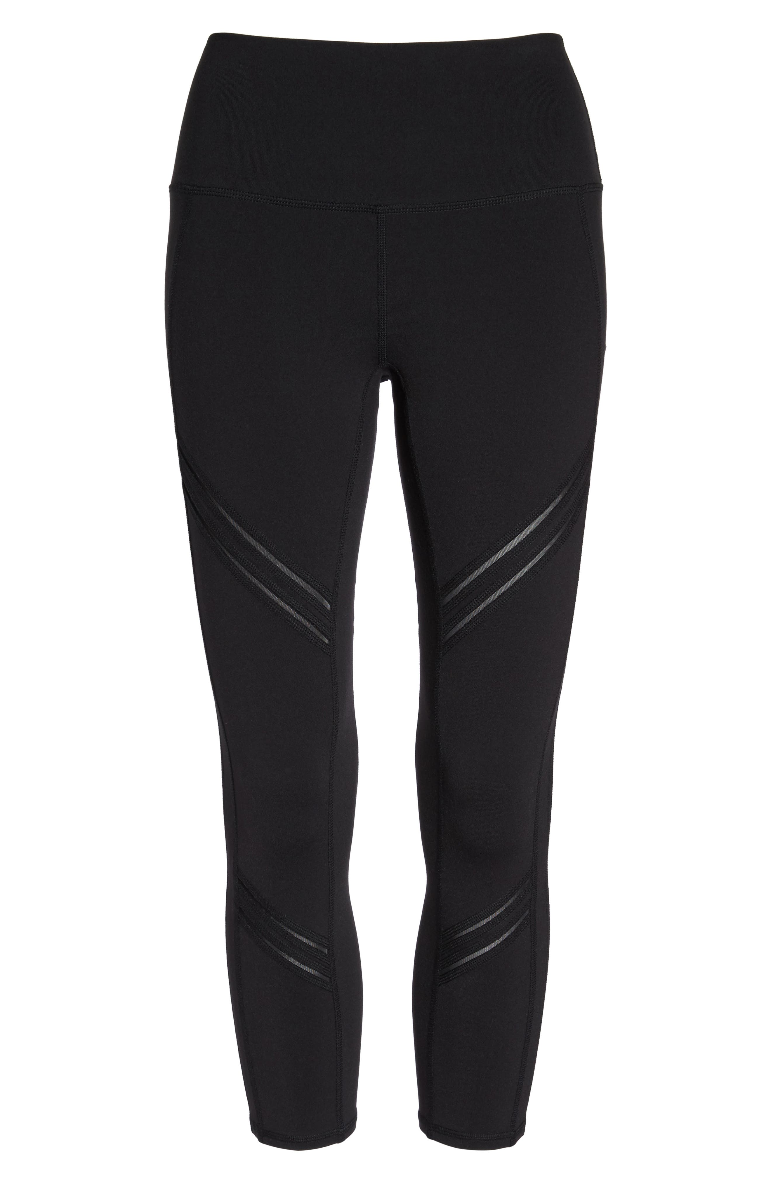 High Rise Cosmic Capri Leggings,                             Alternate thumbnail 6, color,                             001