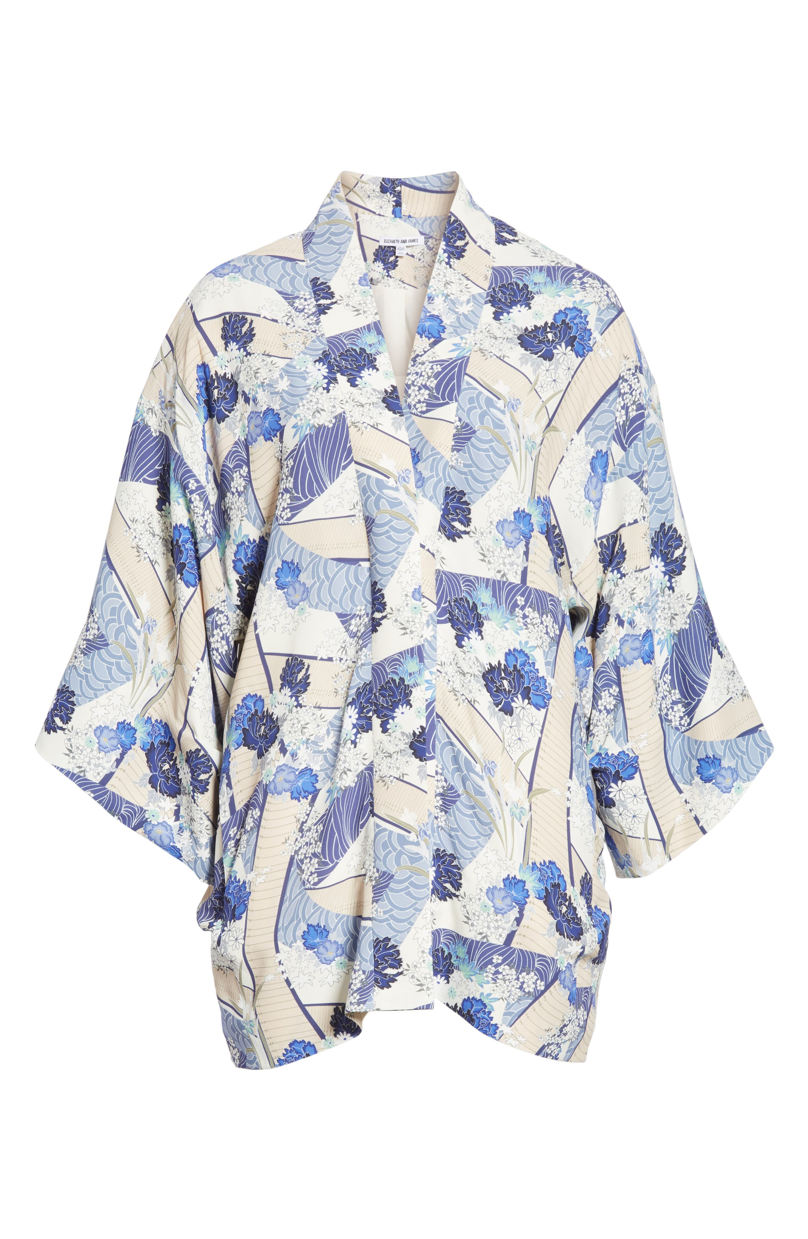 Drew Floral Print Kimono Jacket,                             Alternate thumbnail 5, color,                             428