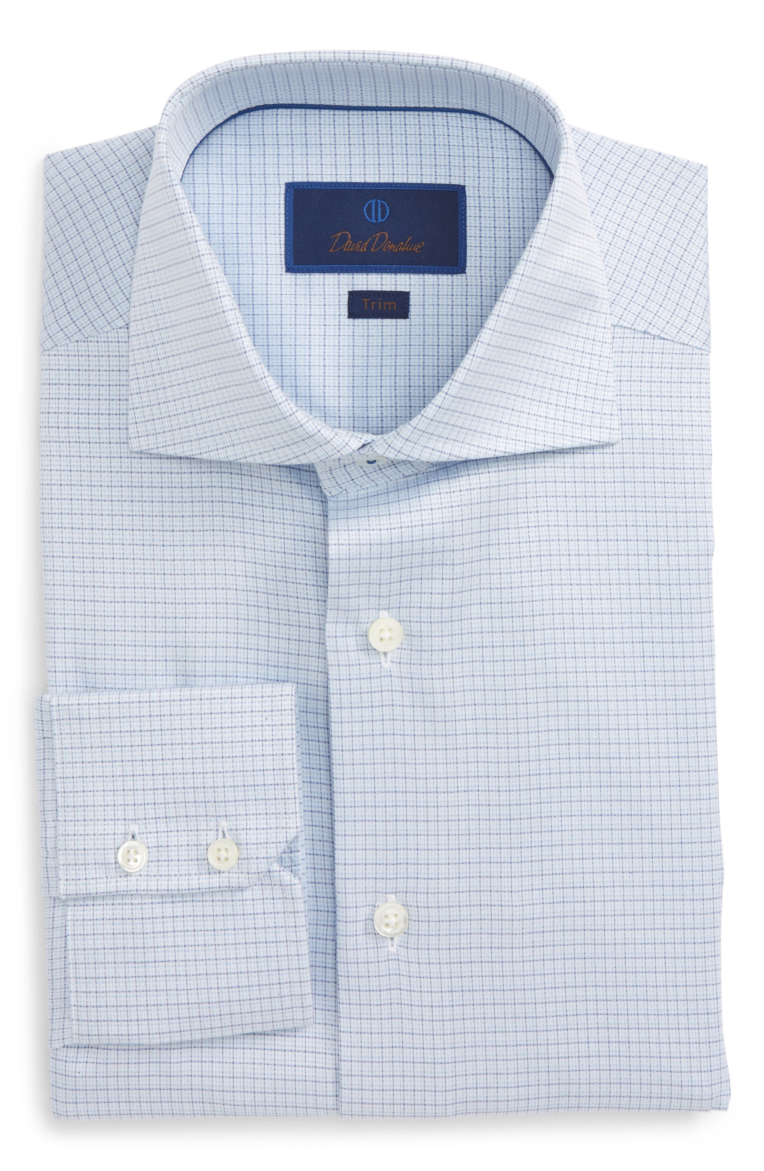 Trim Fit Check Dress Shirt,                             Main thumbnail 1, color,                             423
