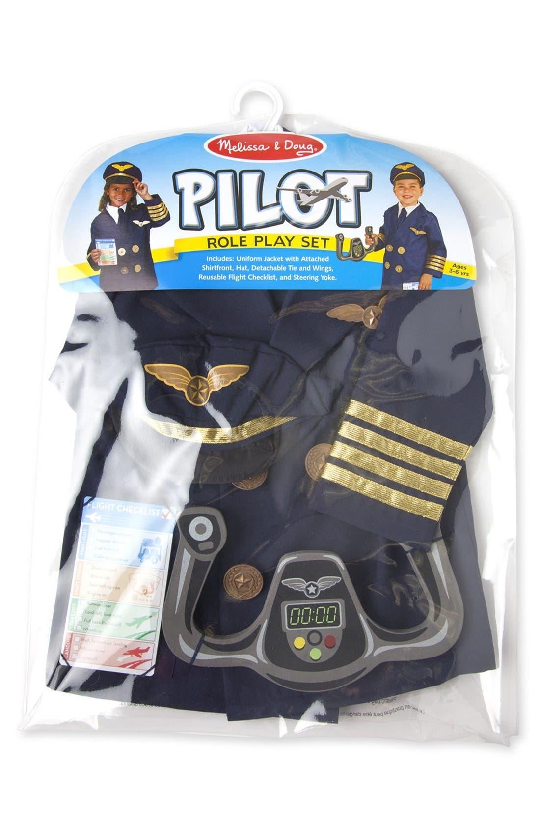 Pilot Role Play Set,                             Alternate thumbnail 3, color,                             BLUE