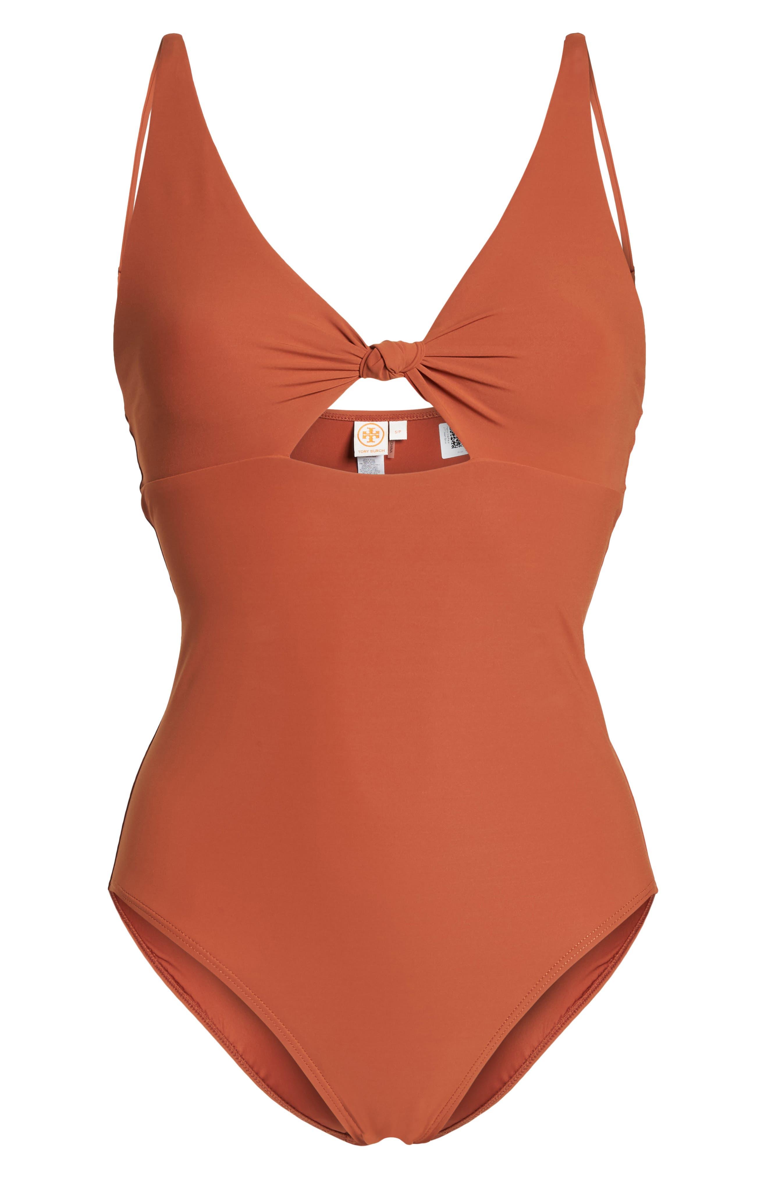Palma One-Piece Swimsuit,                             Alternate thumbnail 6, color,                             DESERT SPICE