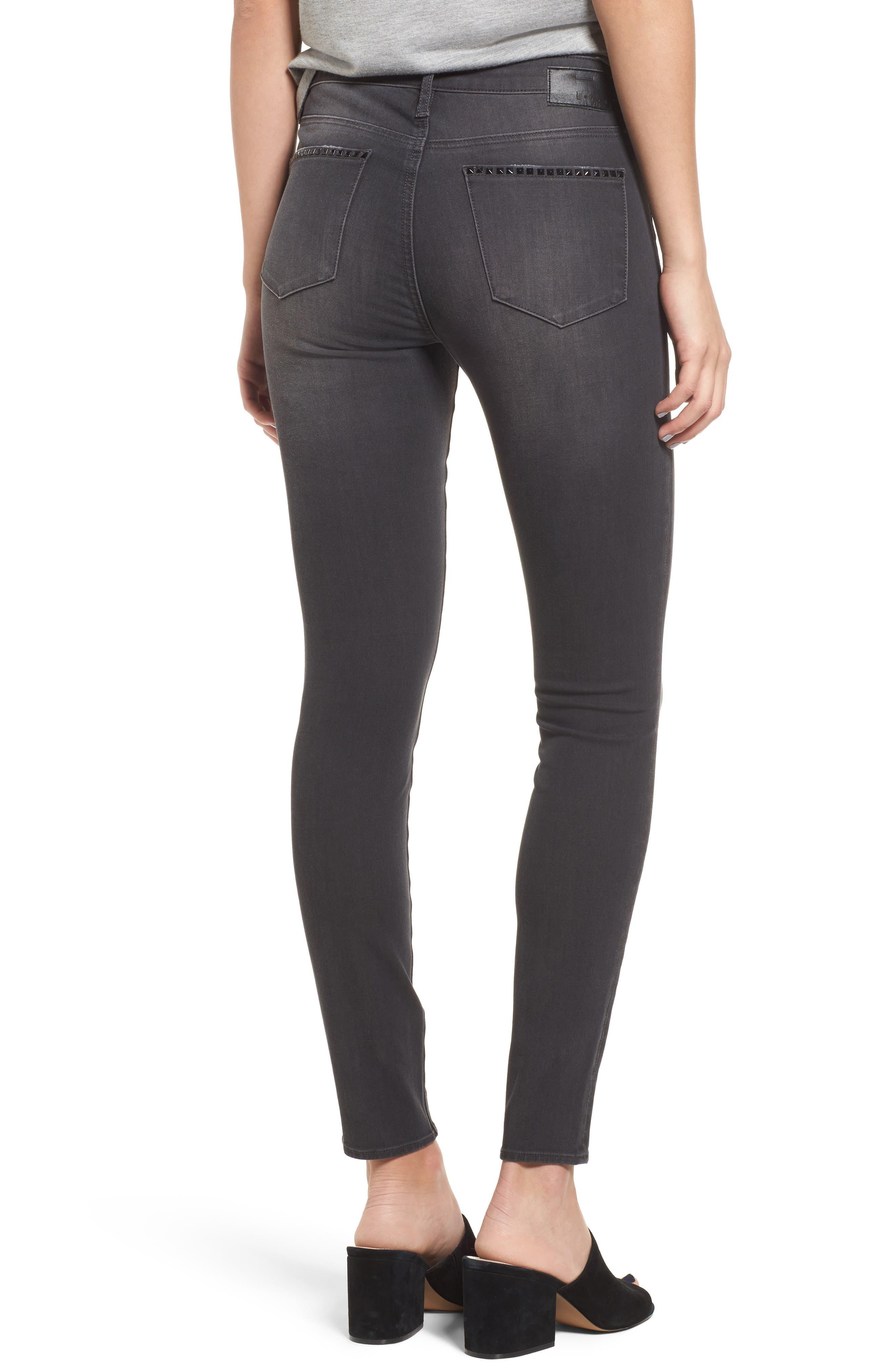 Studded Skinny Jeans,                             Alternate thumbnail 2, color,                             030