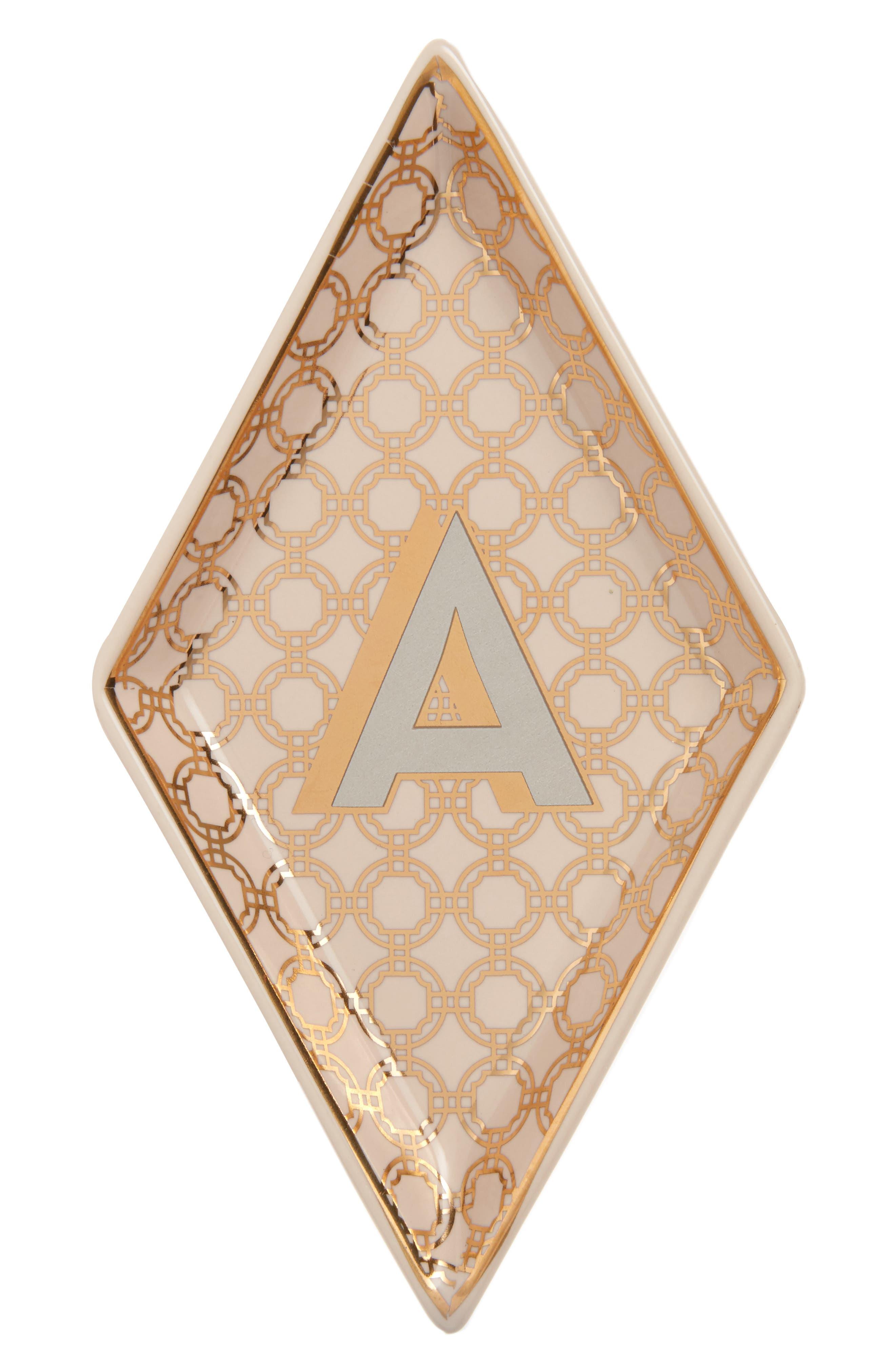 Roseanna Porcelain Alphabet Trinket Tray,                         Main,                         color, 710