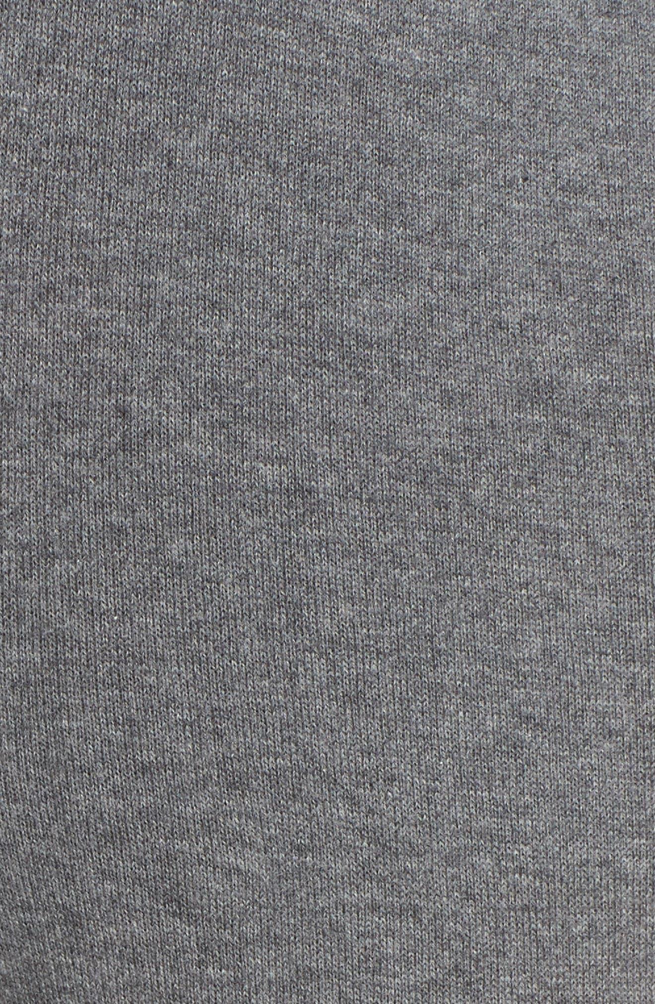 Rainbow Stripe Crop Sweatpants,                             Alternate thumbnail 5, color,