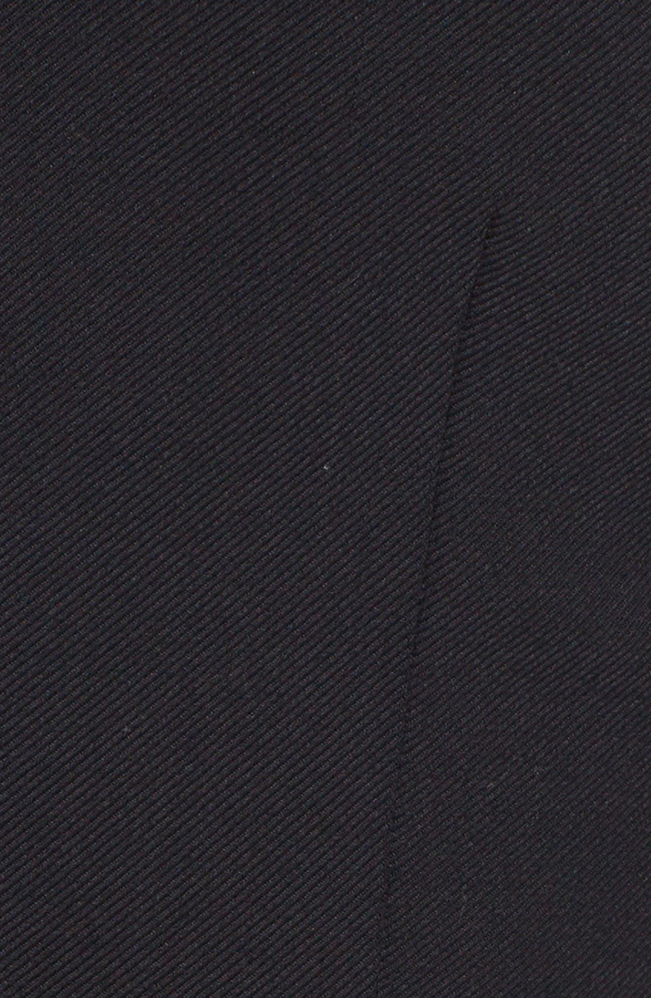Velvet Bow Detail Stretch Dress,                             Alternate thumbnail 5, color,                             BLACK