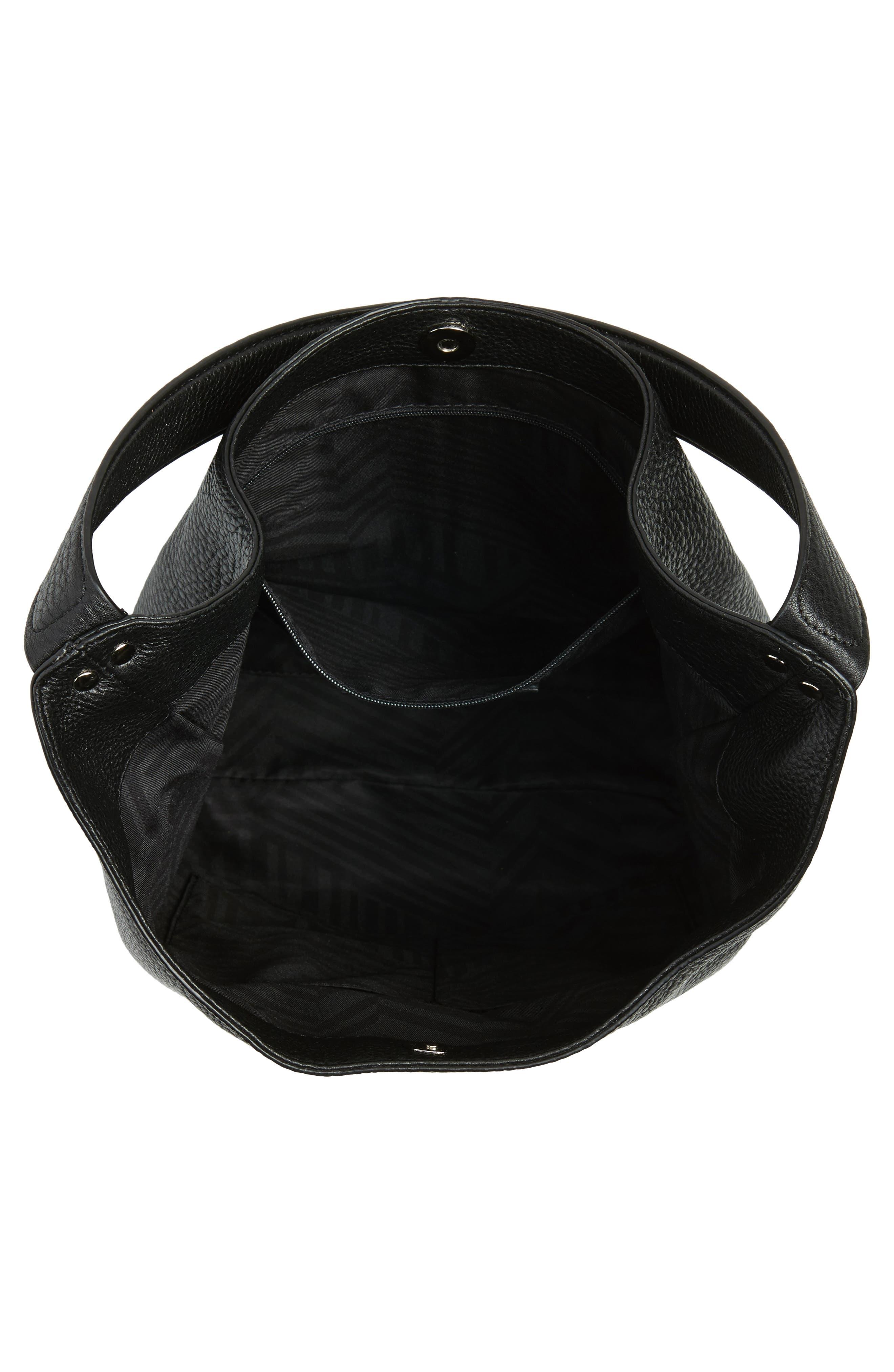 REBECCA MINKOFF,                             Medium Bryn Leather Hobo,                             Alternate thumbnail 4, color,                             001