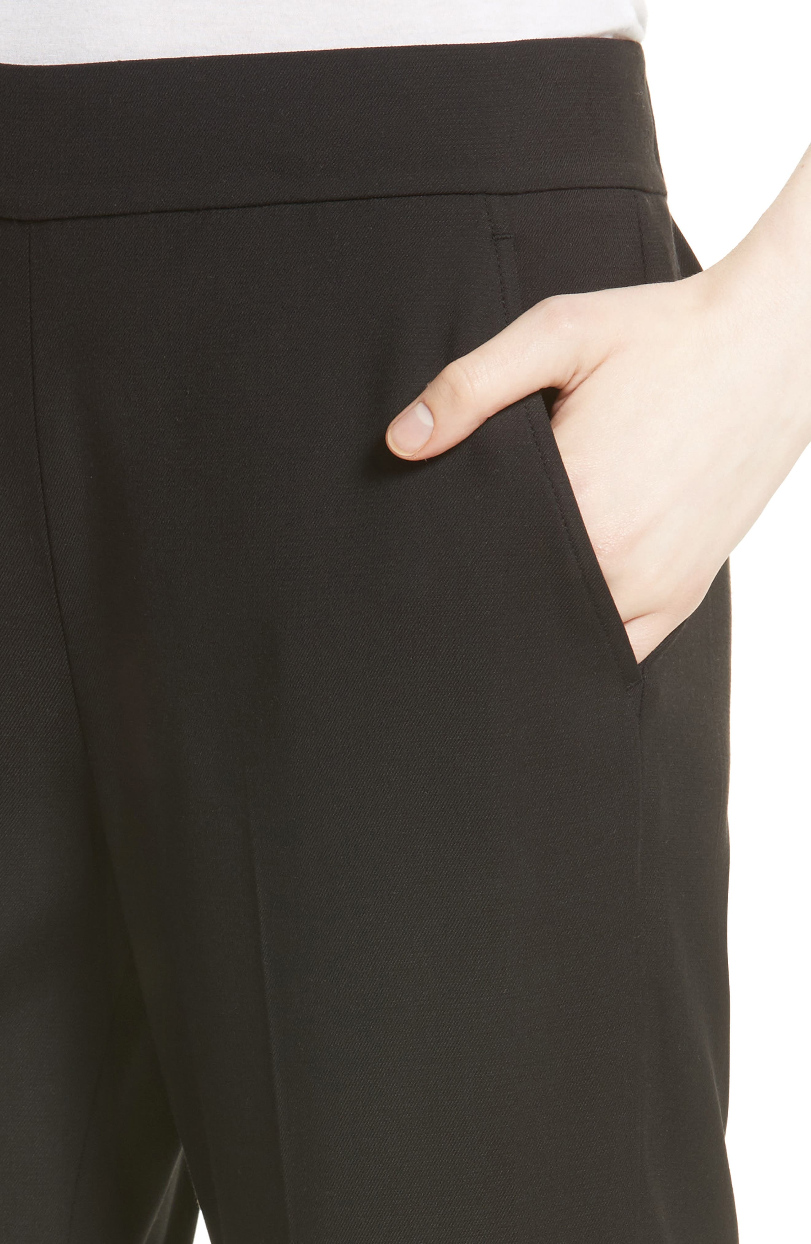 Pleated Pull-On Track Trousers,                             Alternate thumbnail 4, color,                             001